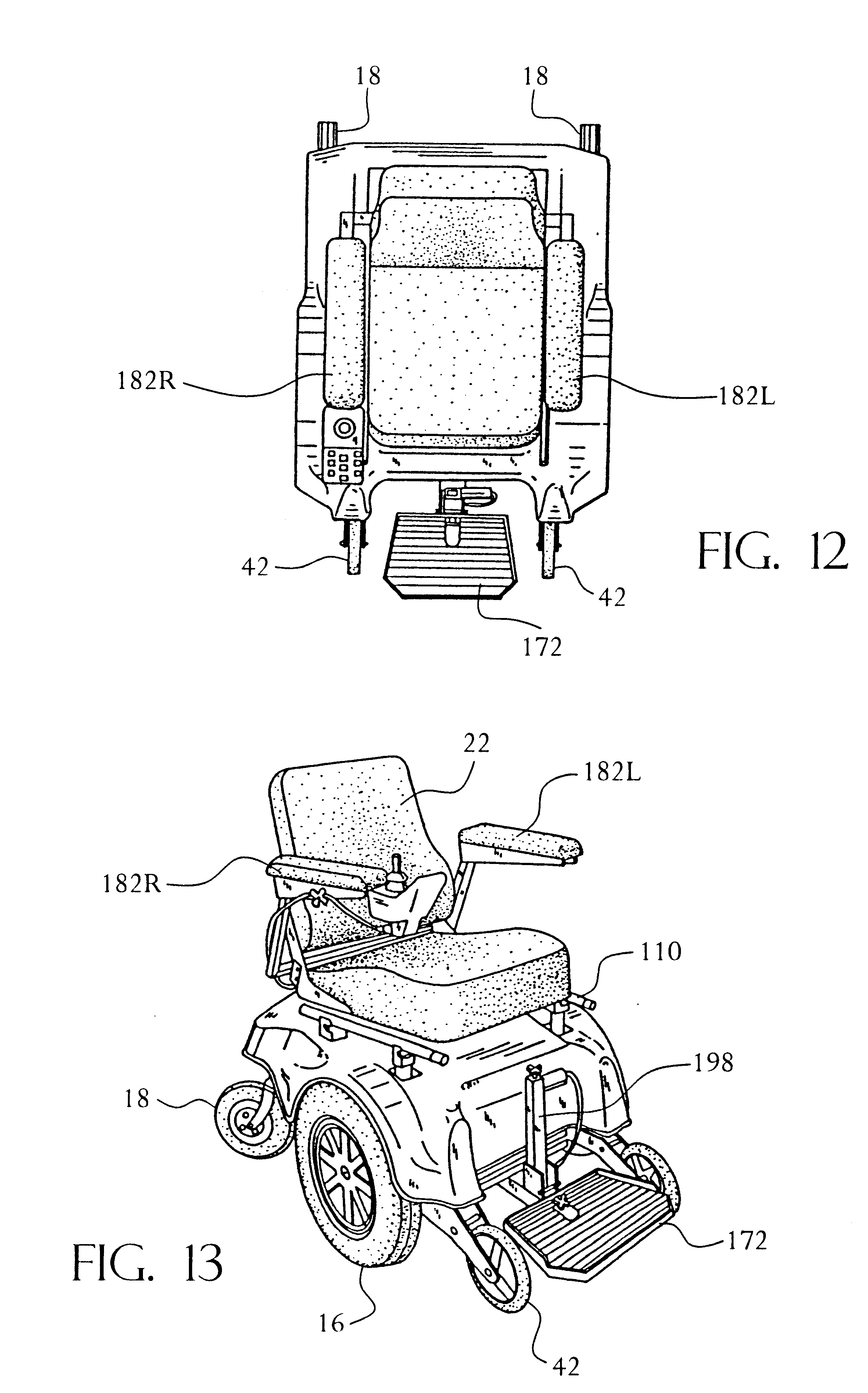 patent us6176335 - power wheelchair