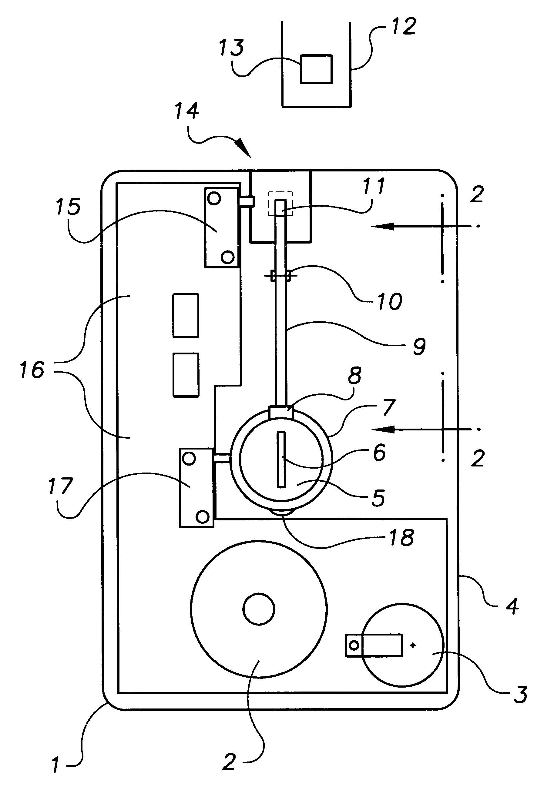 Us6181246 Luggage Alarm Google Security Schematic Patent Drawing