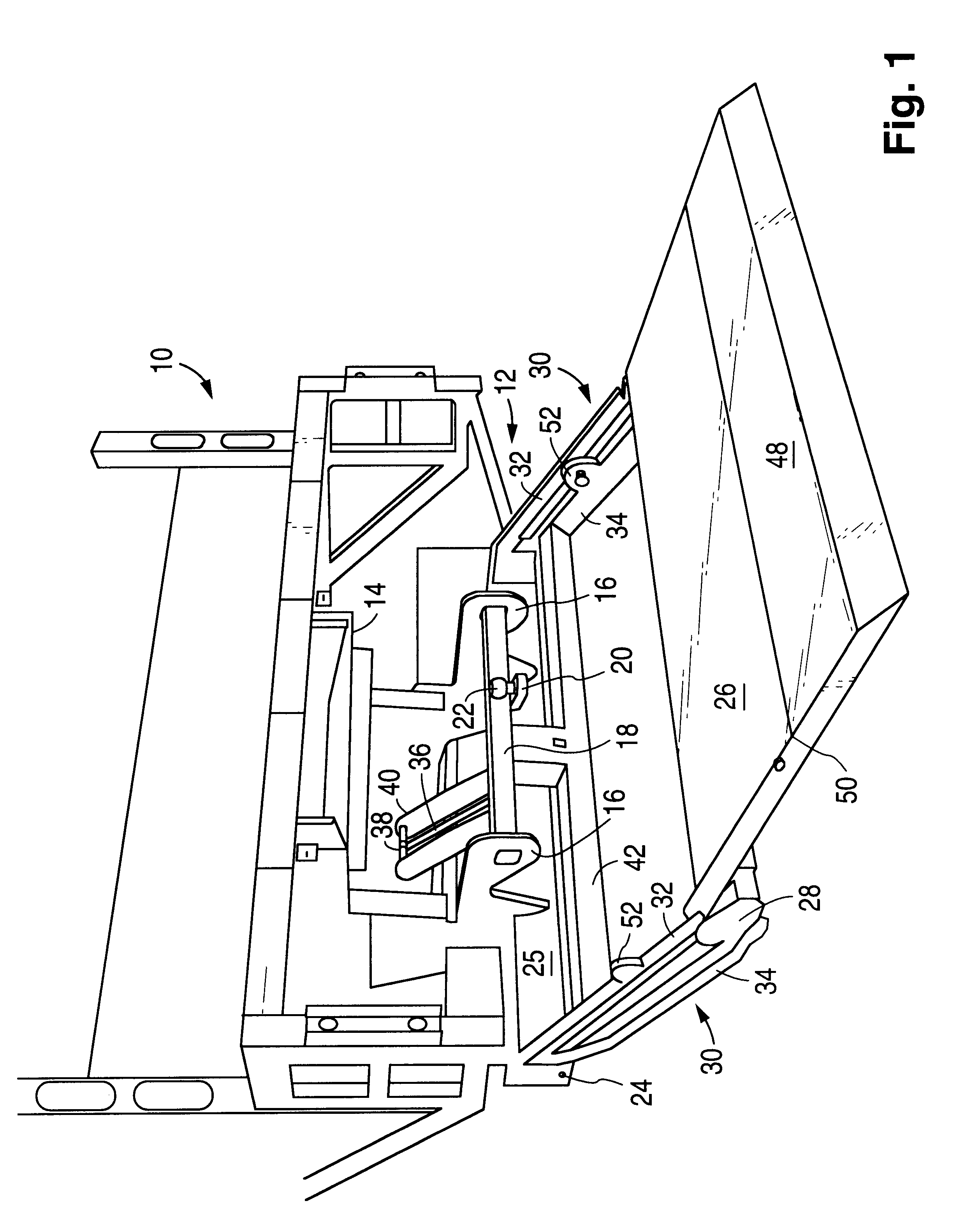 patent us6183187 - integrated lift and tow hitch