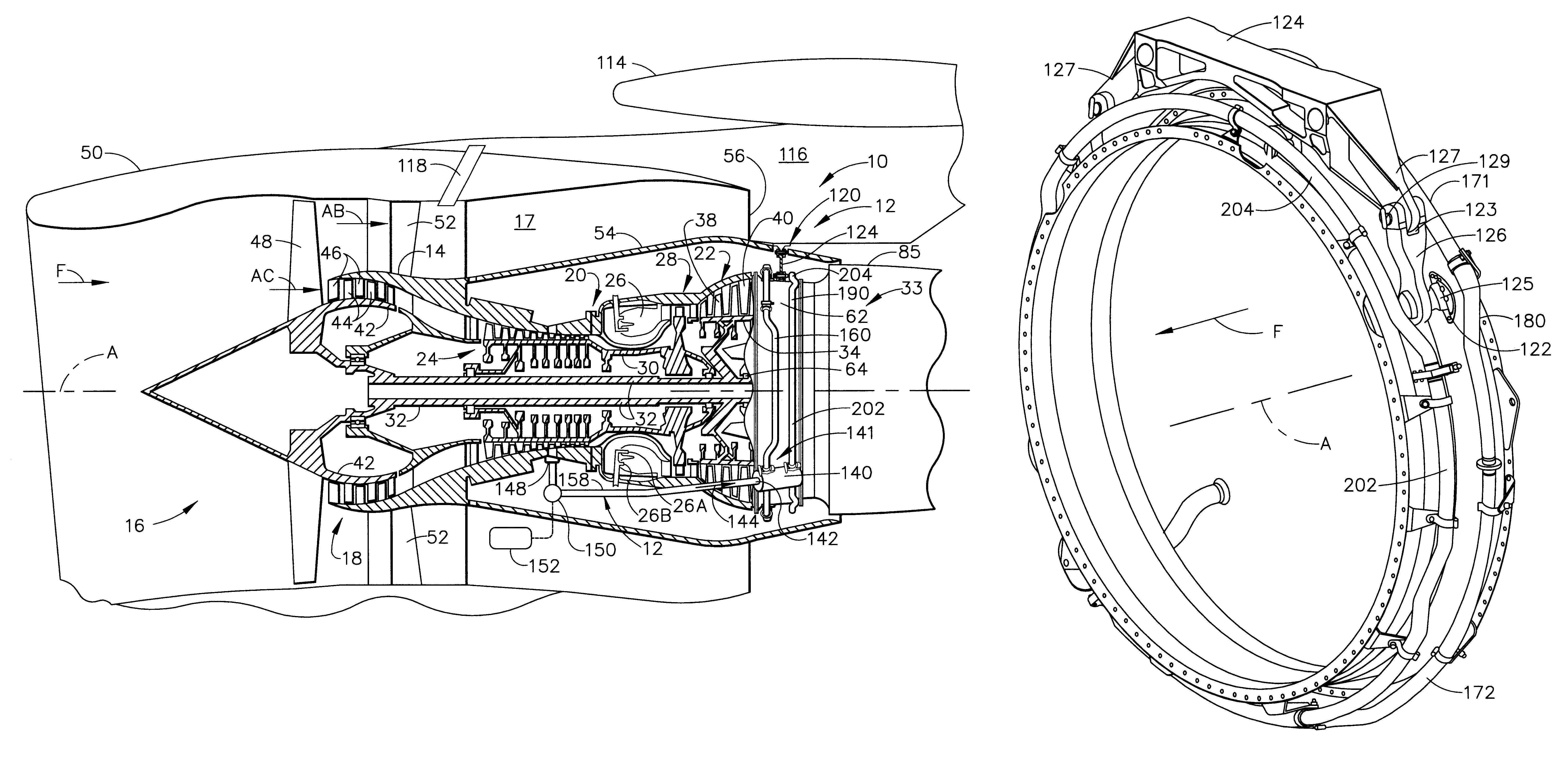 patent us6185925 external cooling system for turbine. Black Bedroom Furniture Sets. Home Design Ideas
