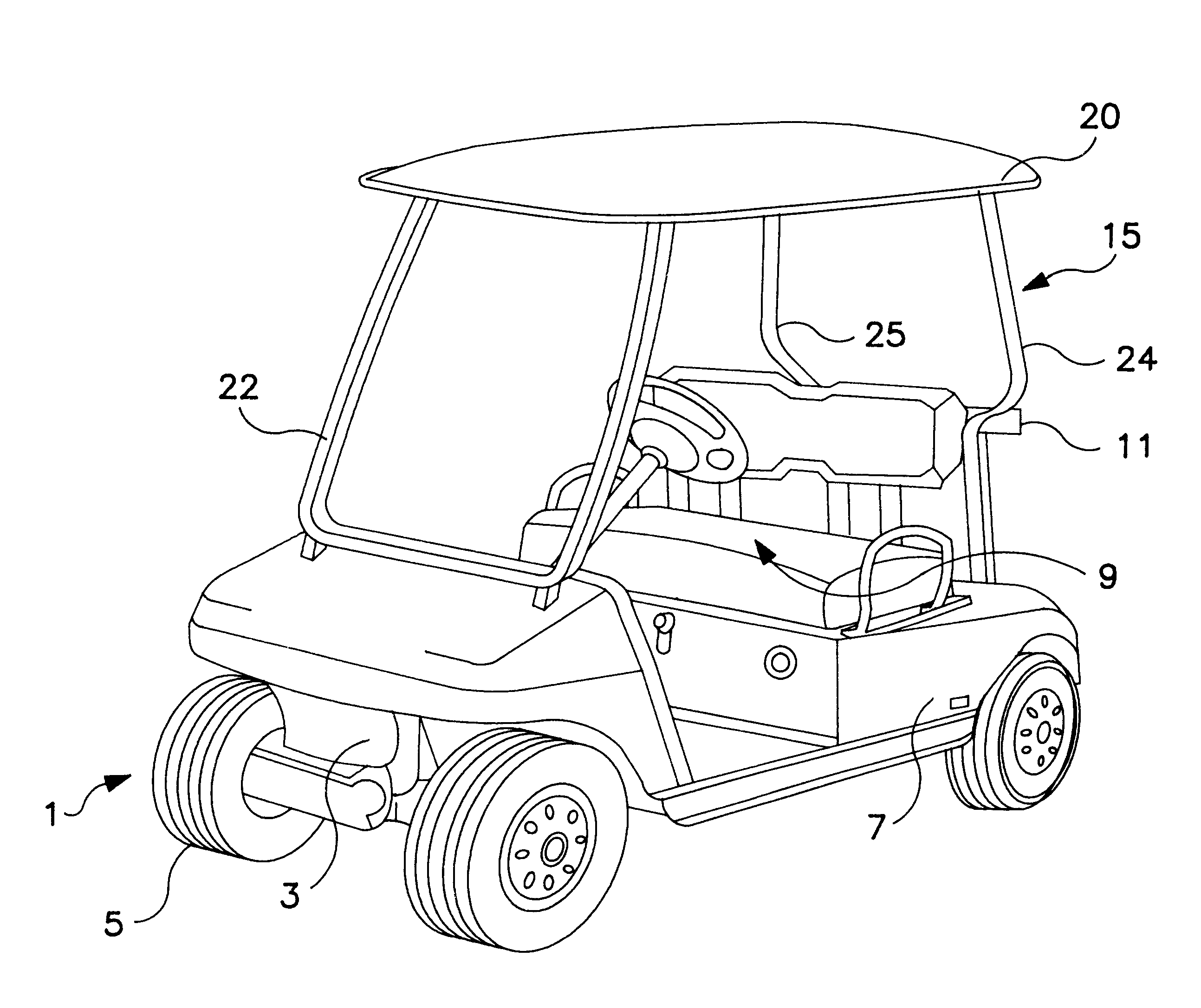 Patent Us6186584 Sunroof Canopy For A Golf Car Google