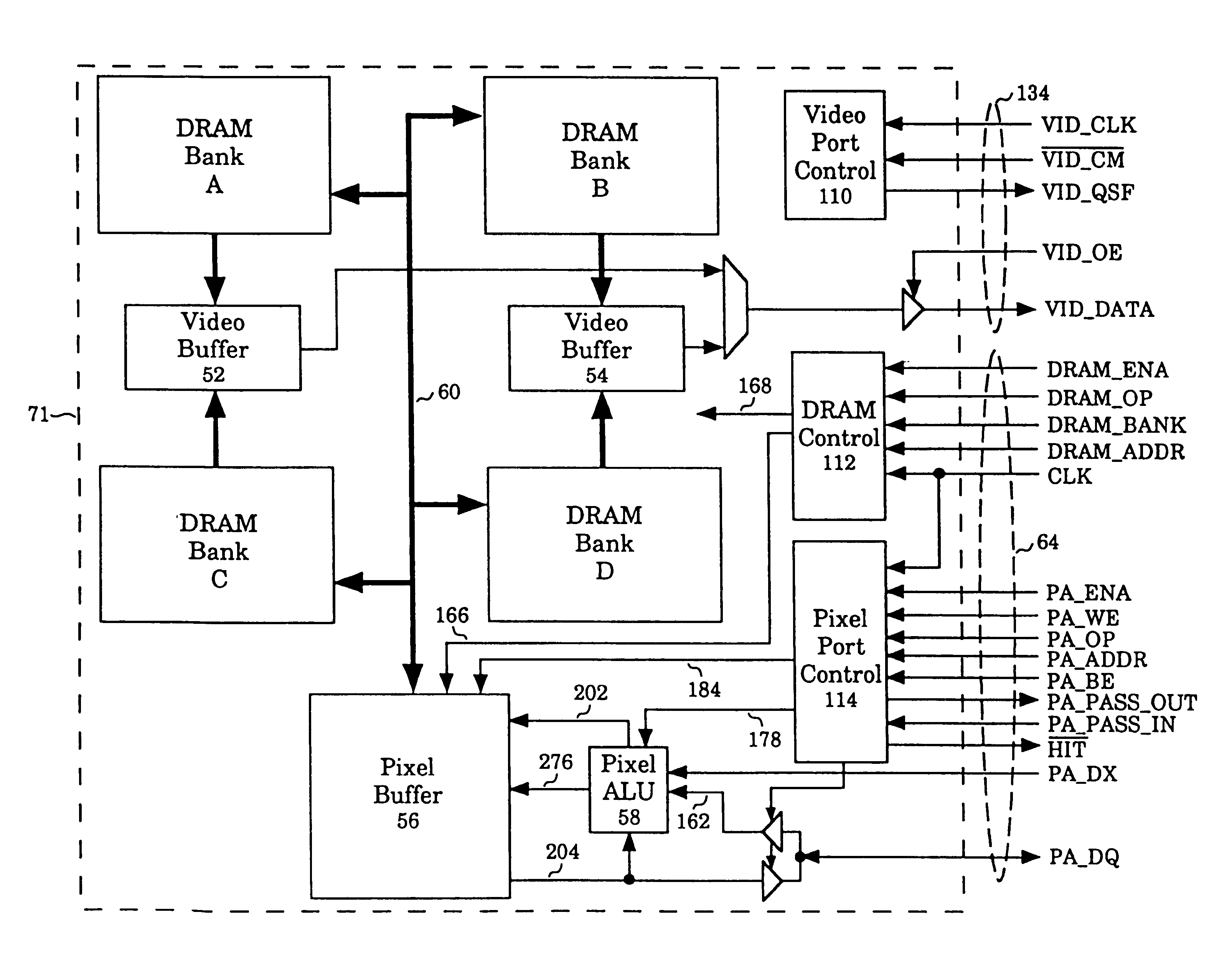 Patent Us6195106 Graphics System With Multiported Pixel Buffers Buffer Circuit Schematic Diagram Drawing