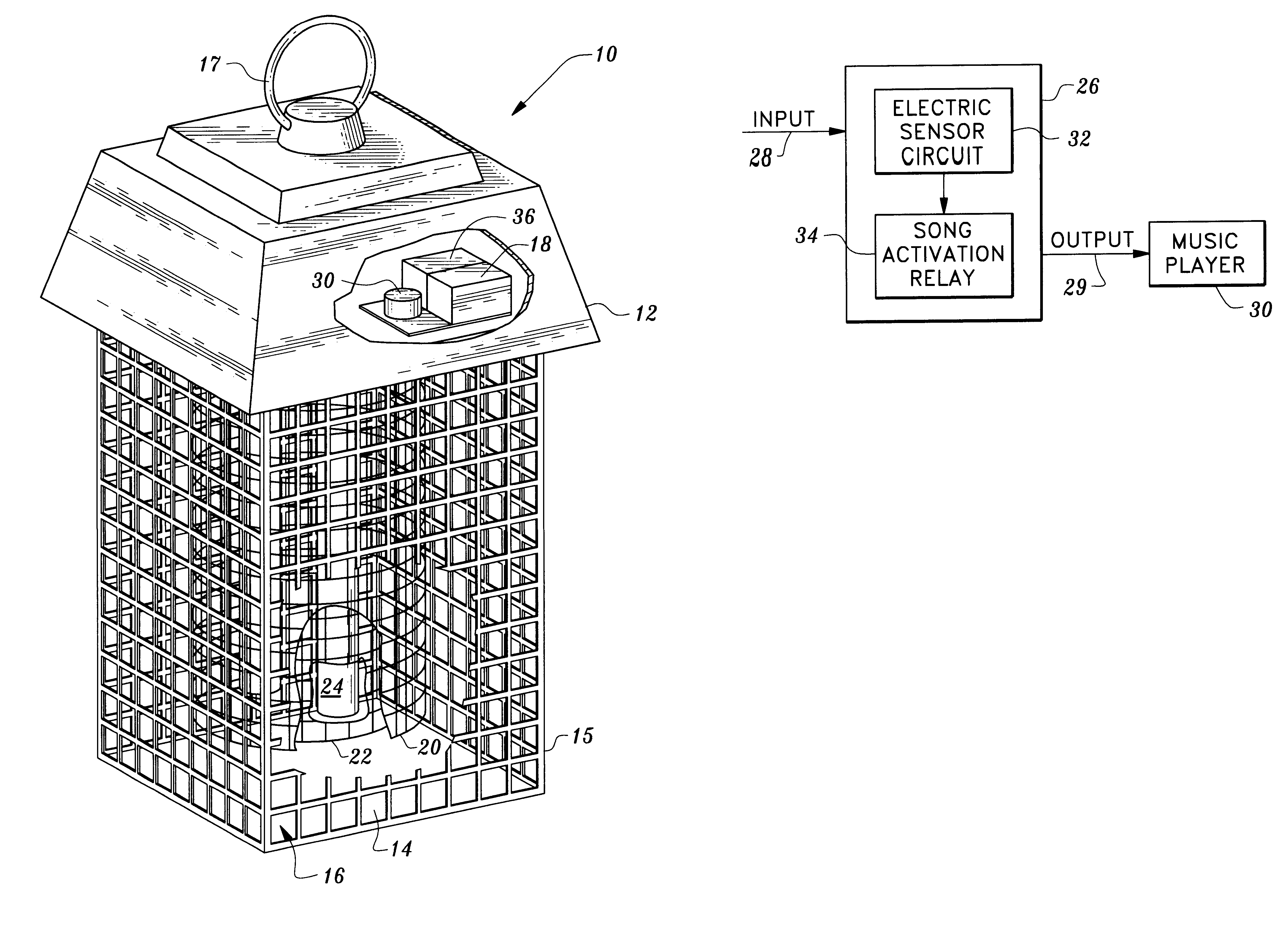 patent us6195932 - musical electronic insect killer