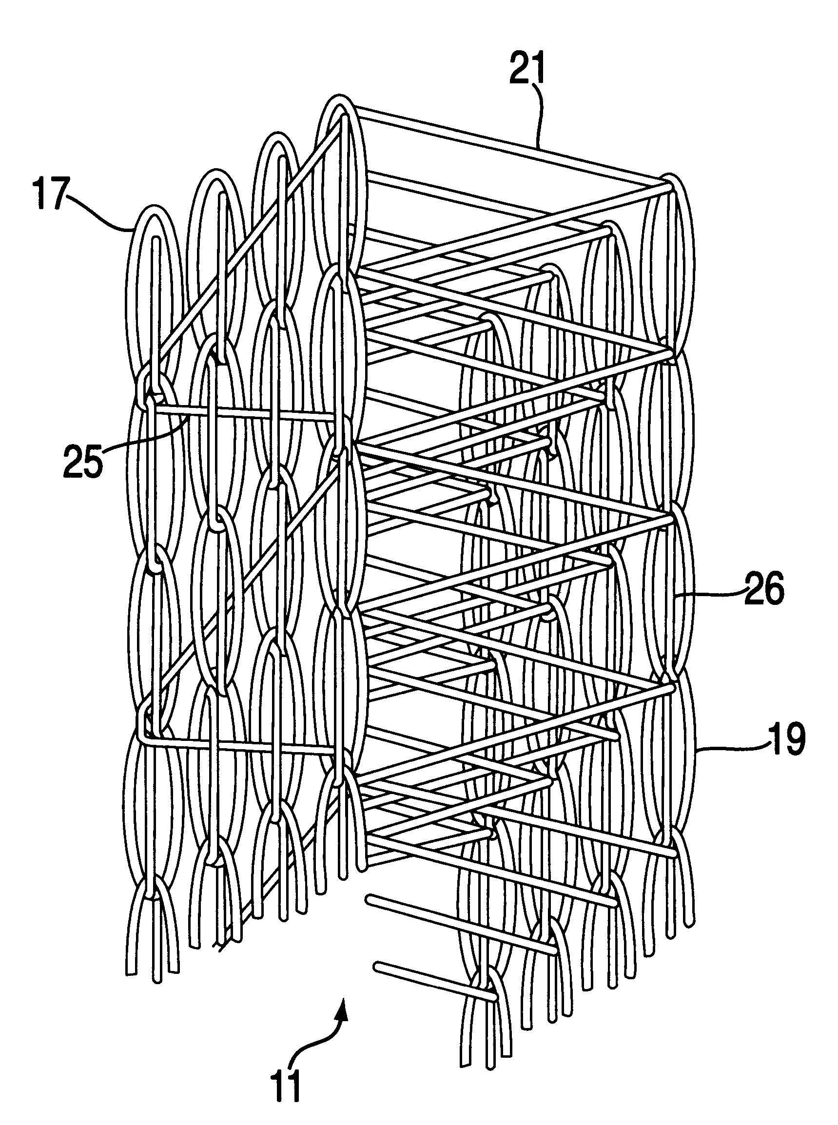 Warp Knitting Fabric Process : Patent us double face warp knit fabric with two