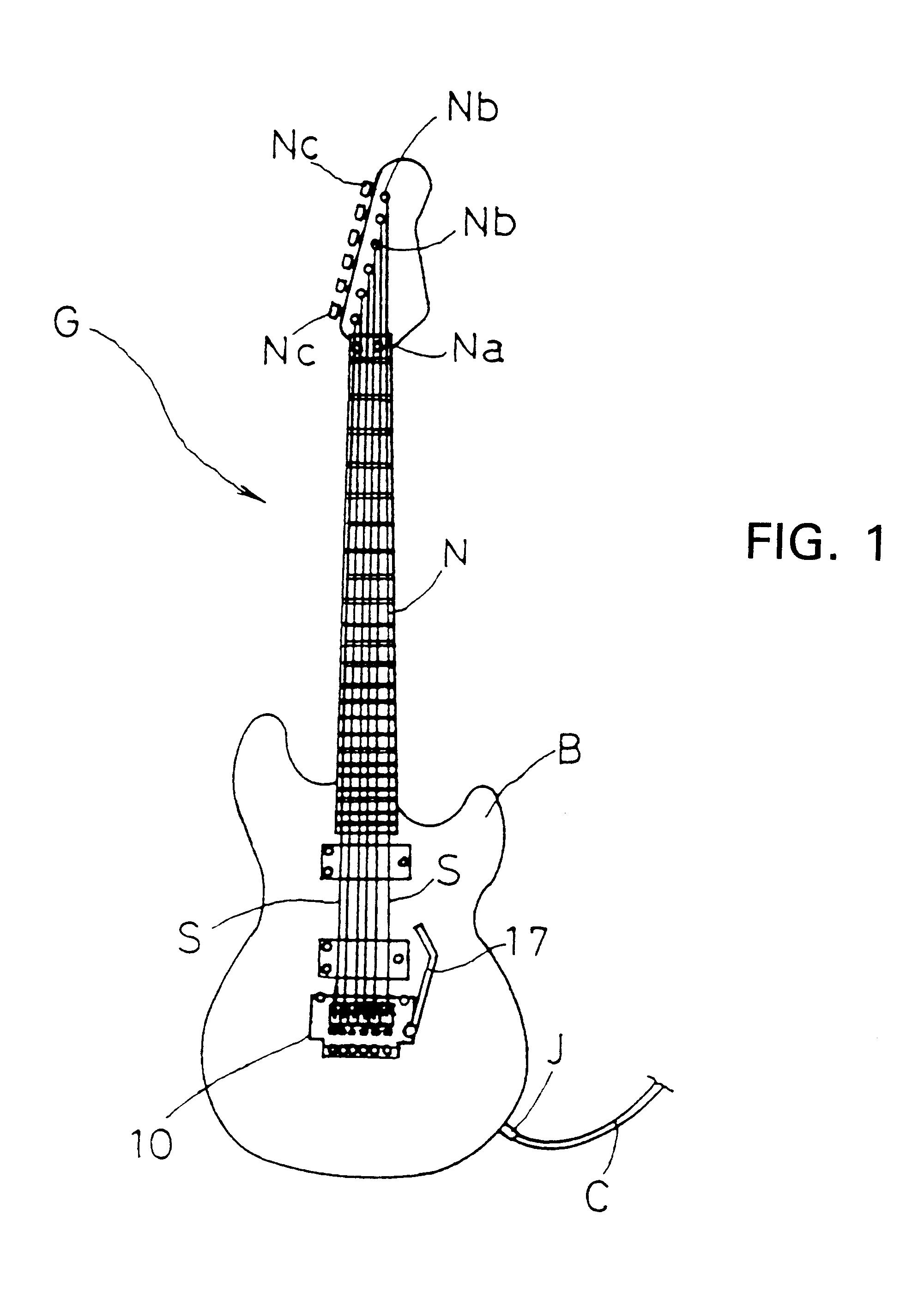 Patent Us6198036 Electric Guitar Tremolo Bridge Piezo