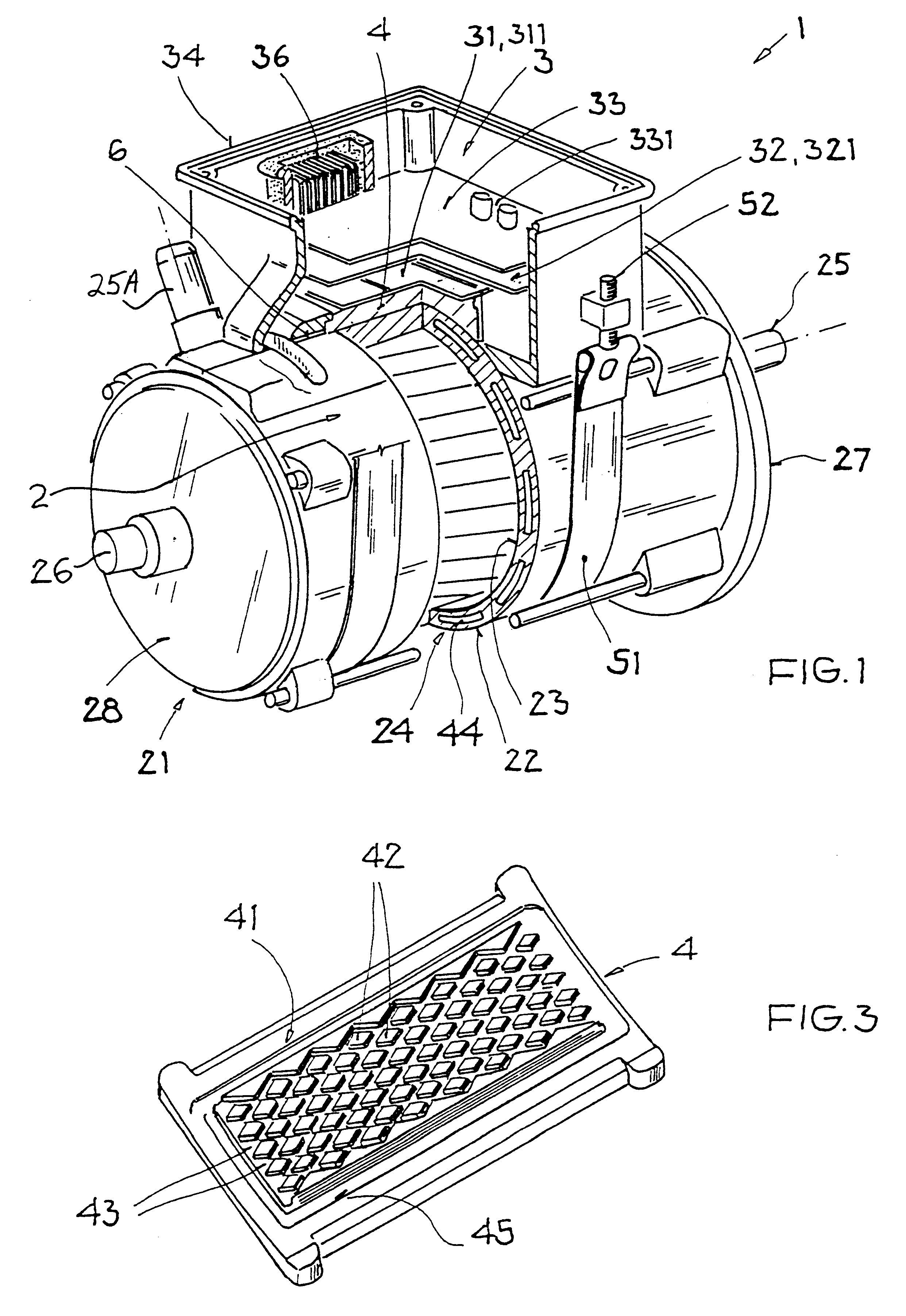 Patent US6198183 - Integrated electric drive unit including