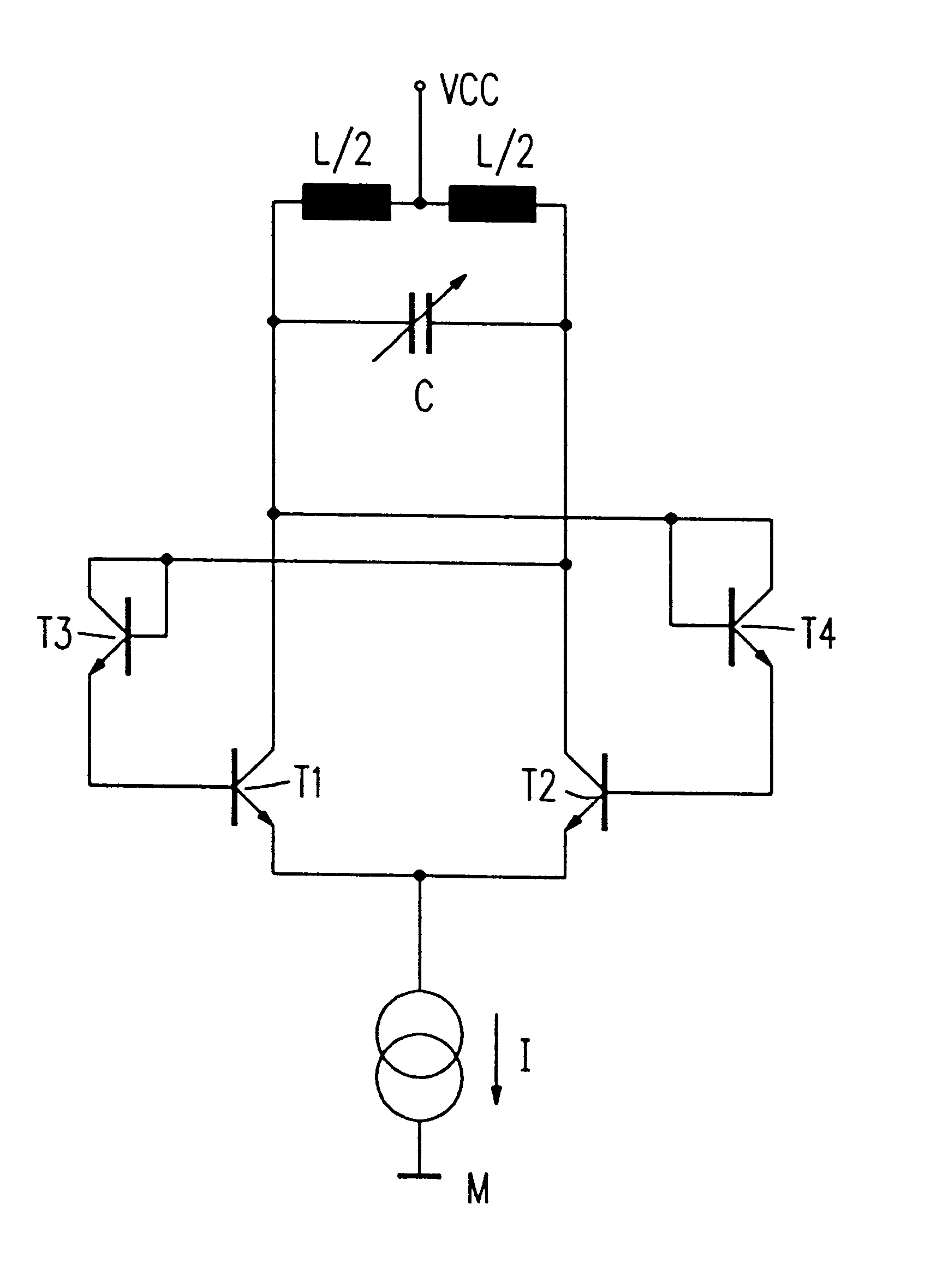 Us6198359 Oscillator With Cross Coupling By Diodes Pushpull Circuit Oscillatorcircuit Signalprocessing Patent Drawing