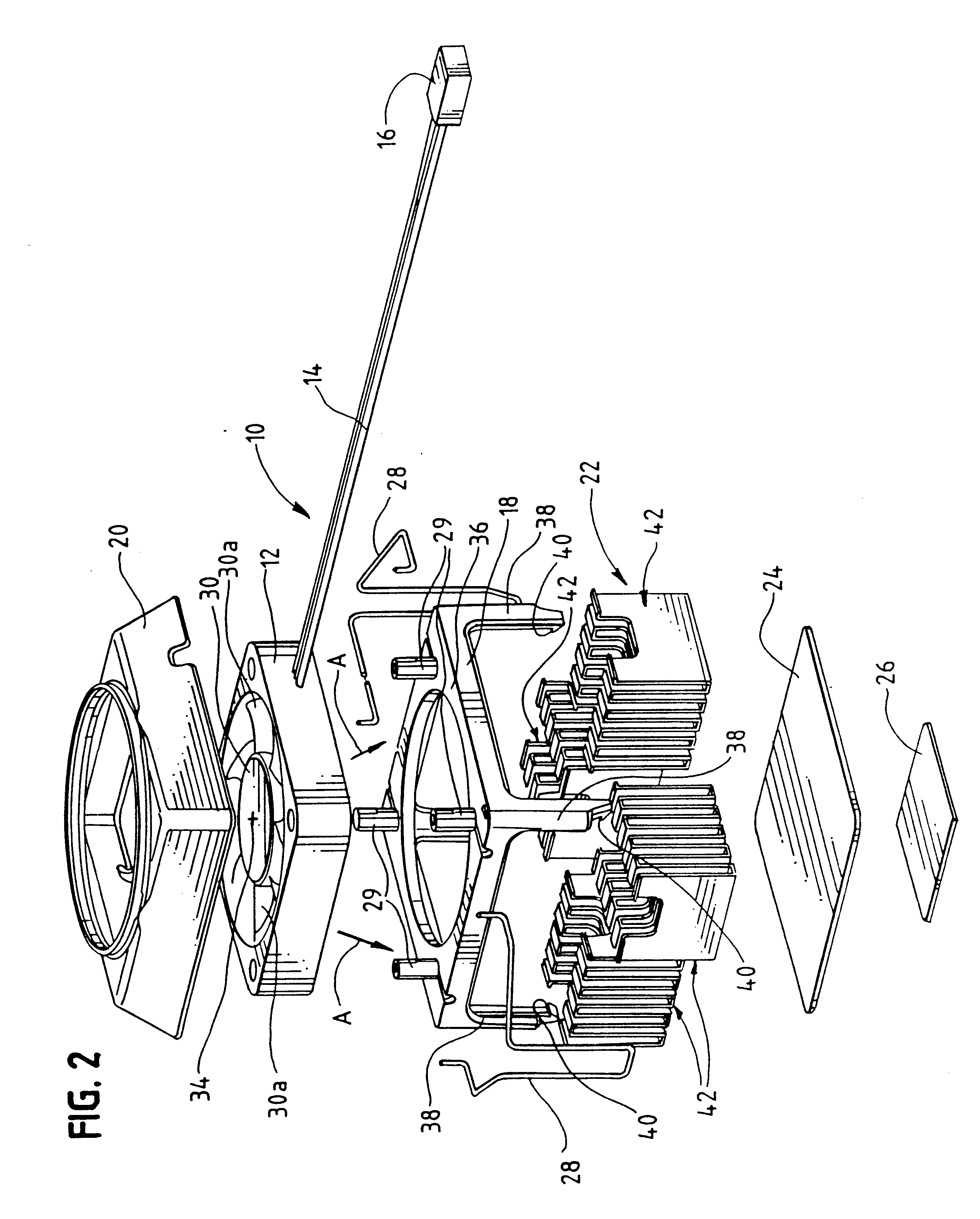 patent us6199624 folded fin heat sink and a heat exchanger 36 Inch Strap patent drawing