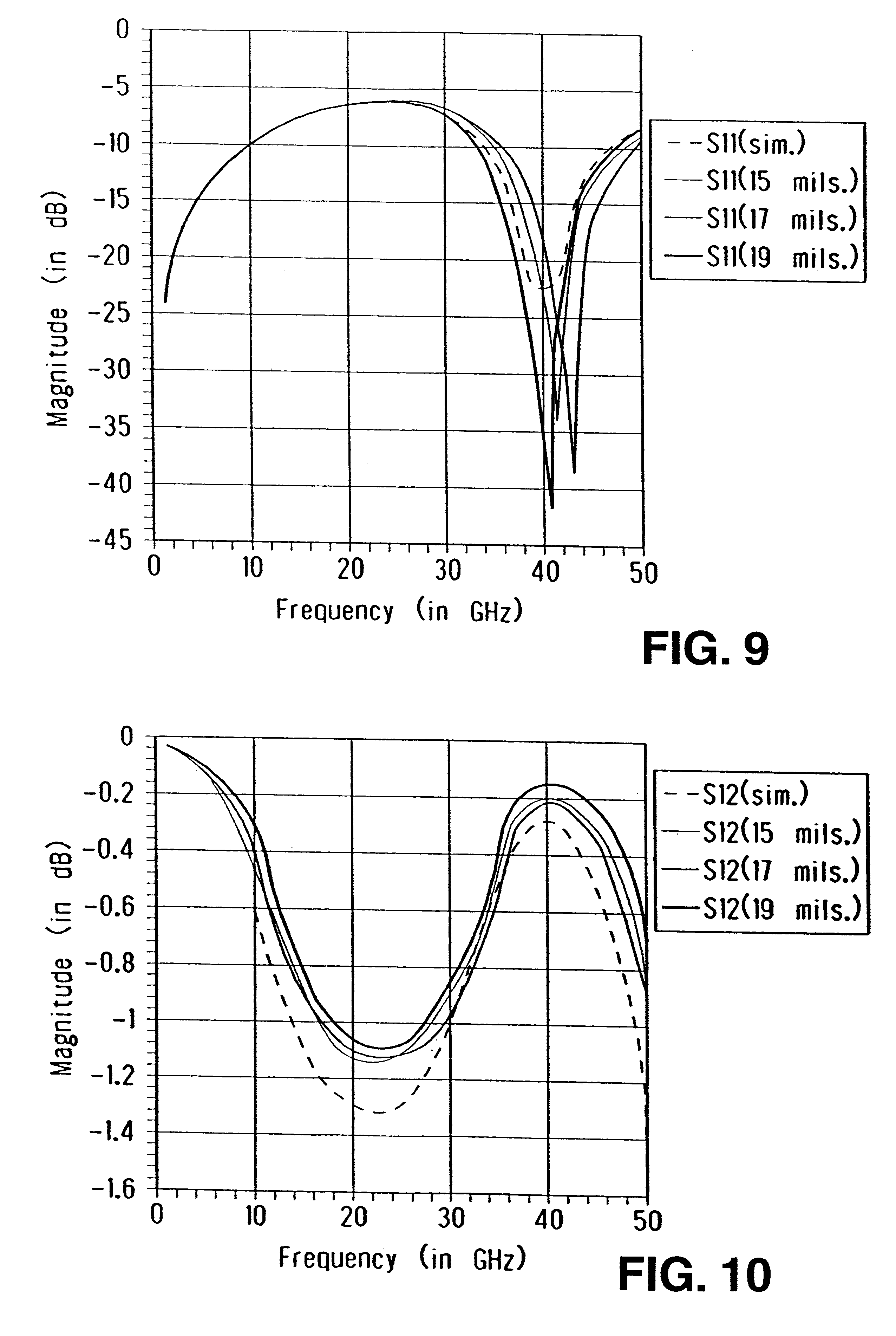 patent us6201454 - compensation structure for a bond wire at high frequency operation