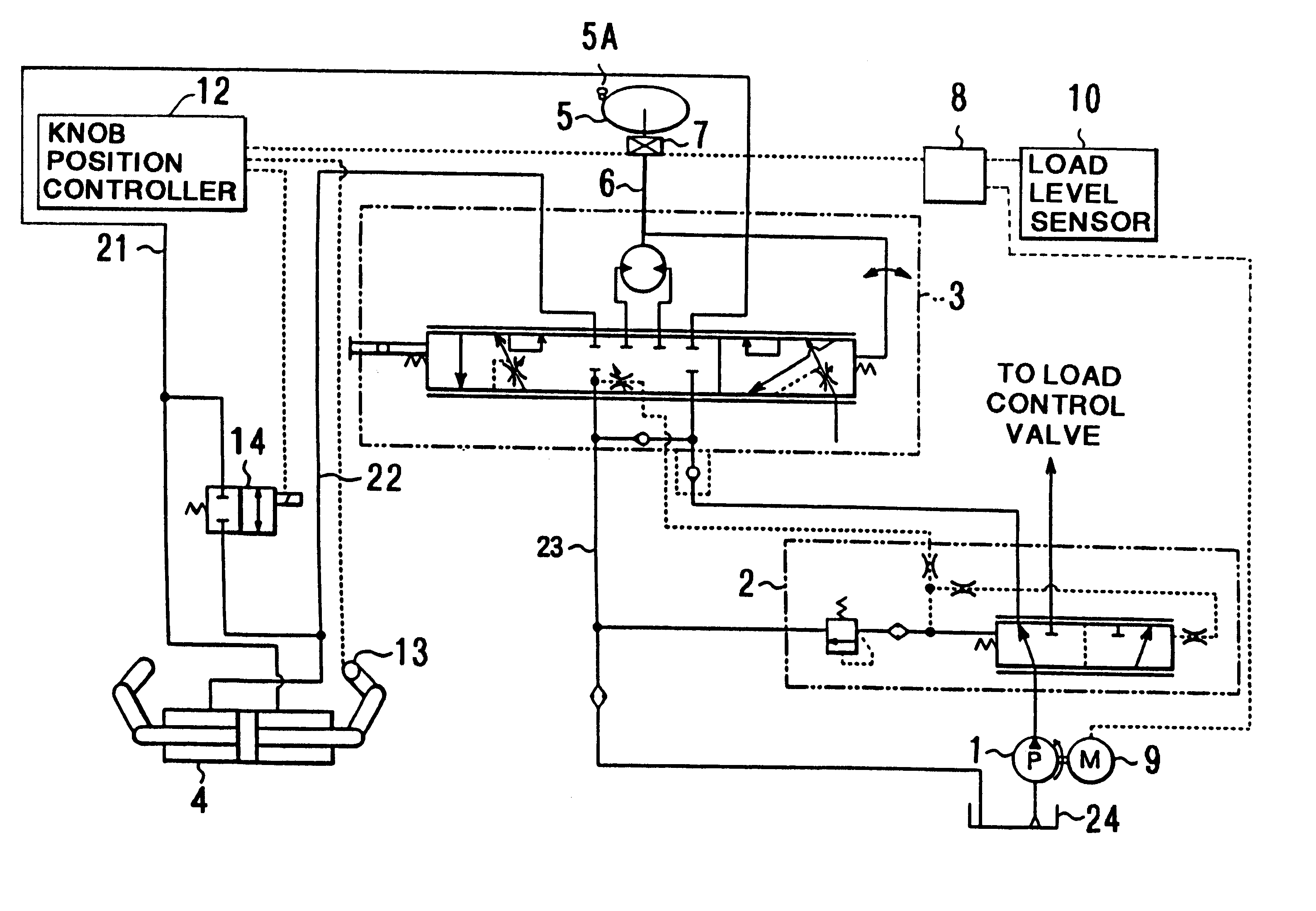 patent us6202410 - hydraulic system for forklift