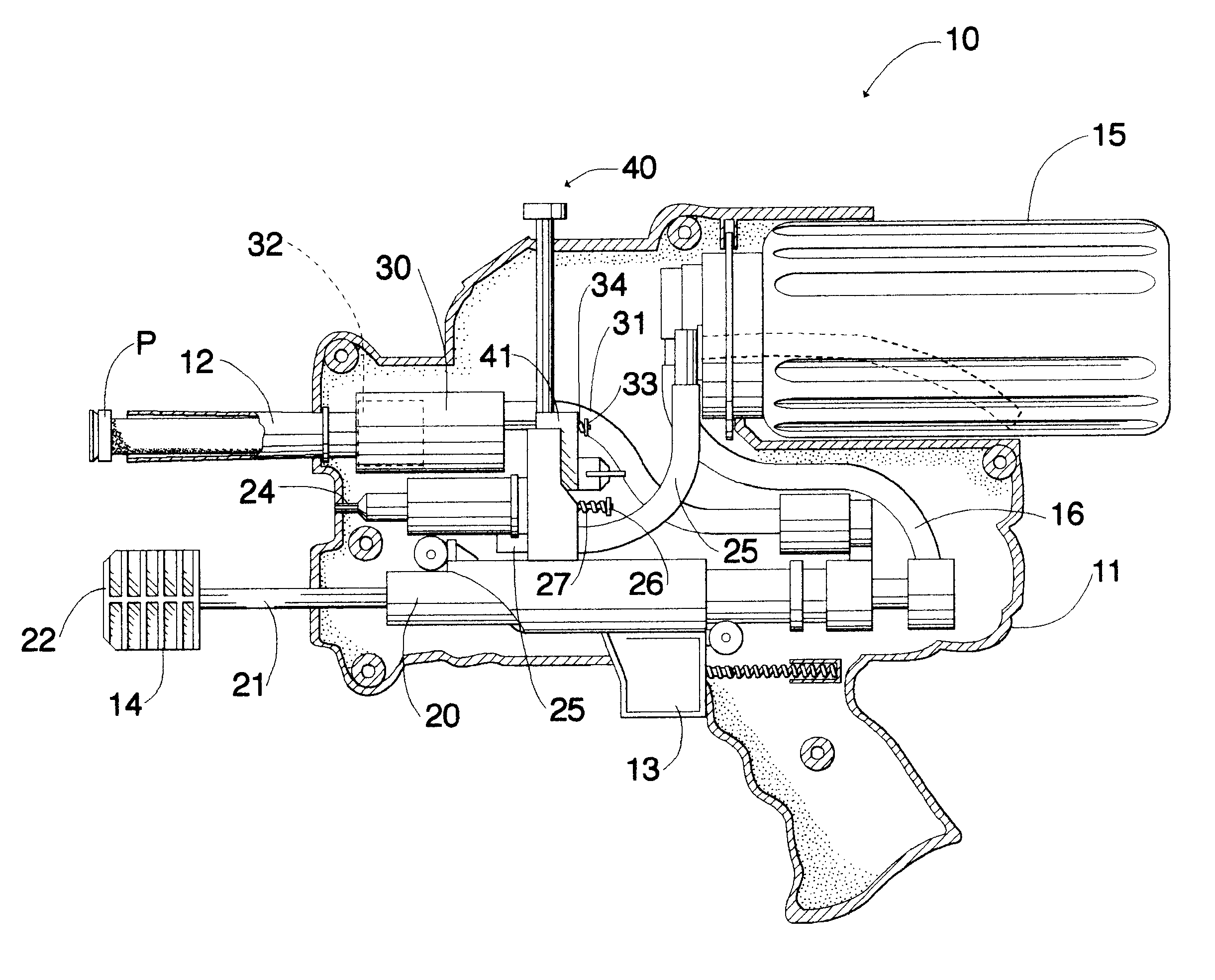 Patent Us6203397 Convertible Air And Water Toy Gun