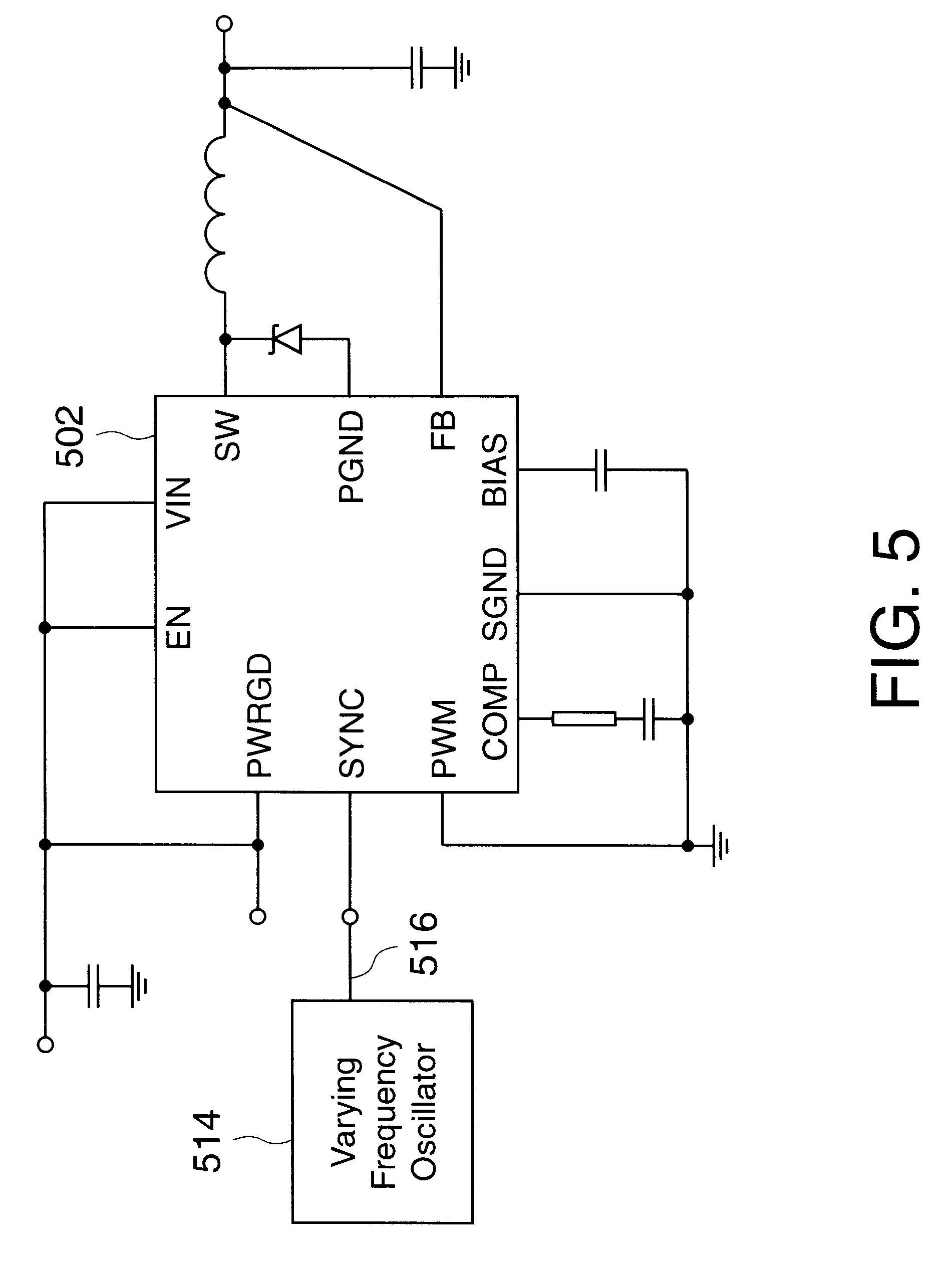 Patent Us6204649 Pwm Regulator With Varying Operating Frequency The Ne555 Fm Modulation Circuit Controlcircuit Diagram Drawing