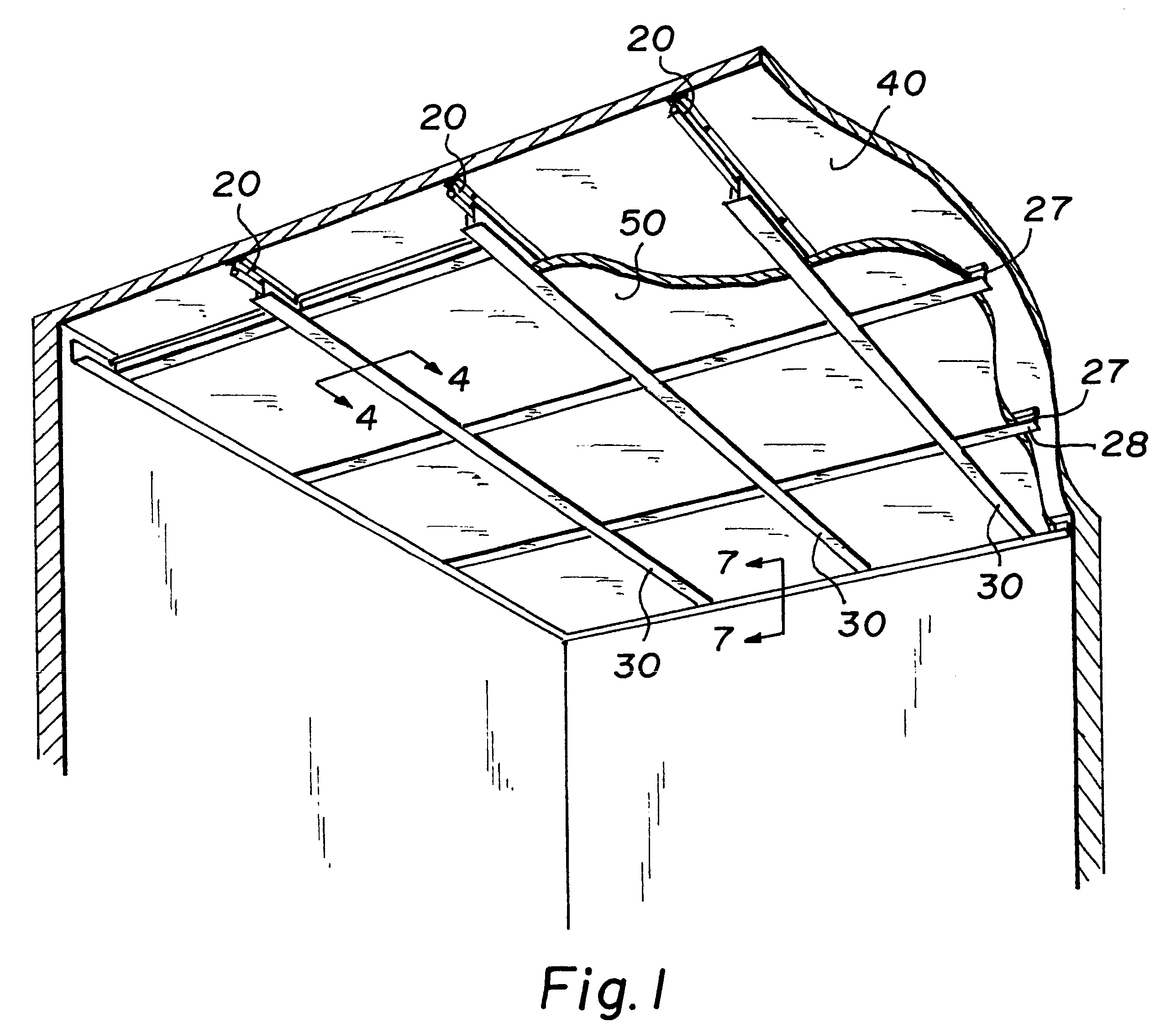 Patent Us6205733 Direct Mount Ceiling Panel Grid System