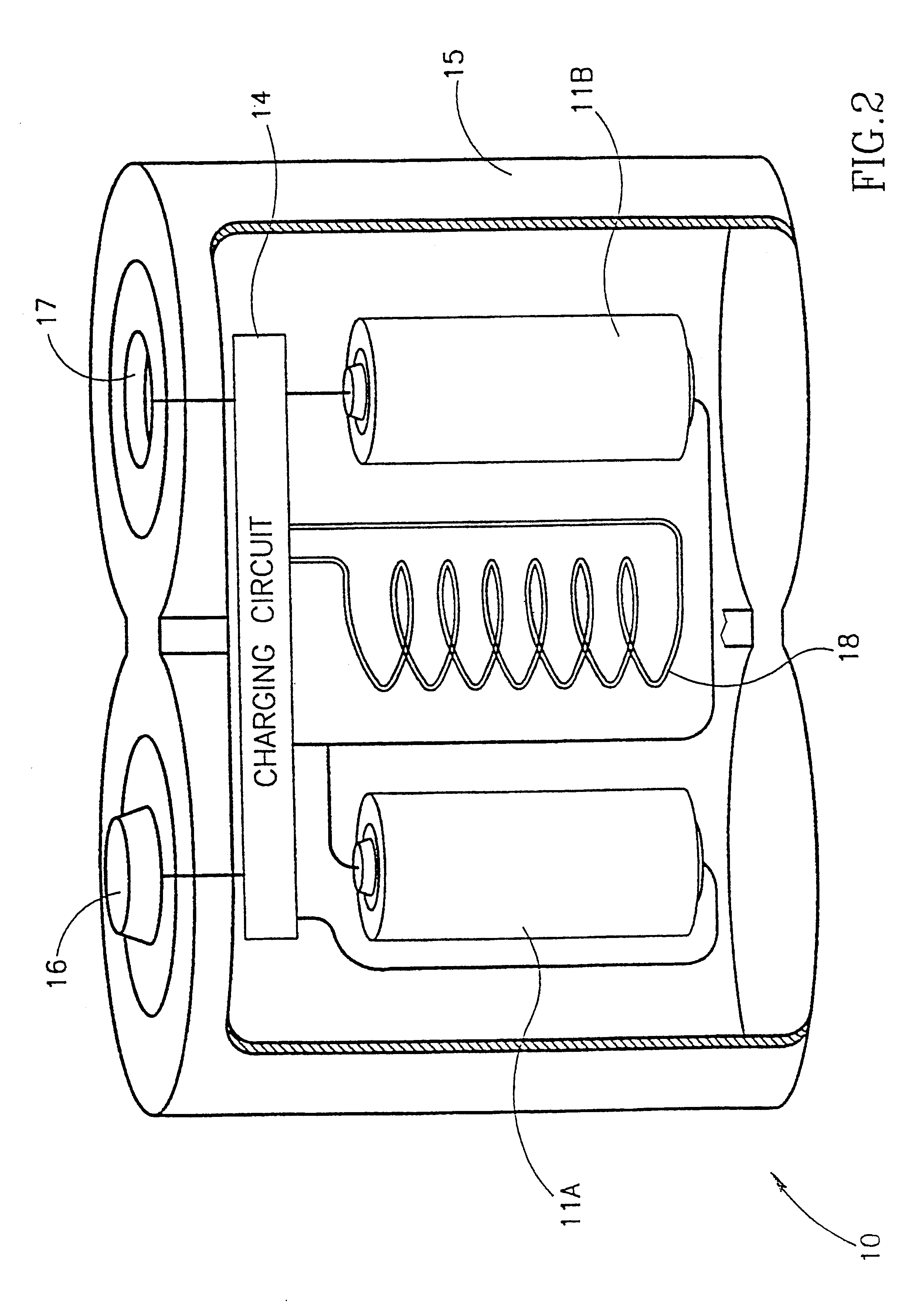 patent us6208115 - battery substitute pack