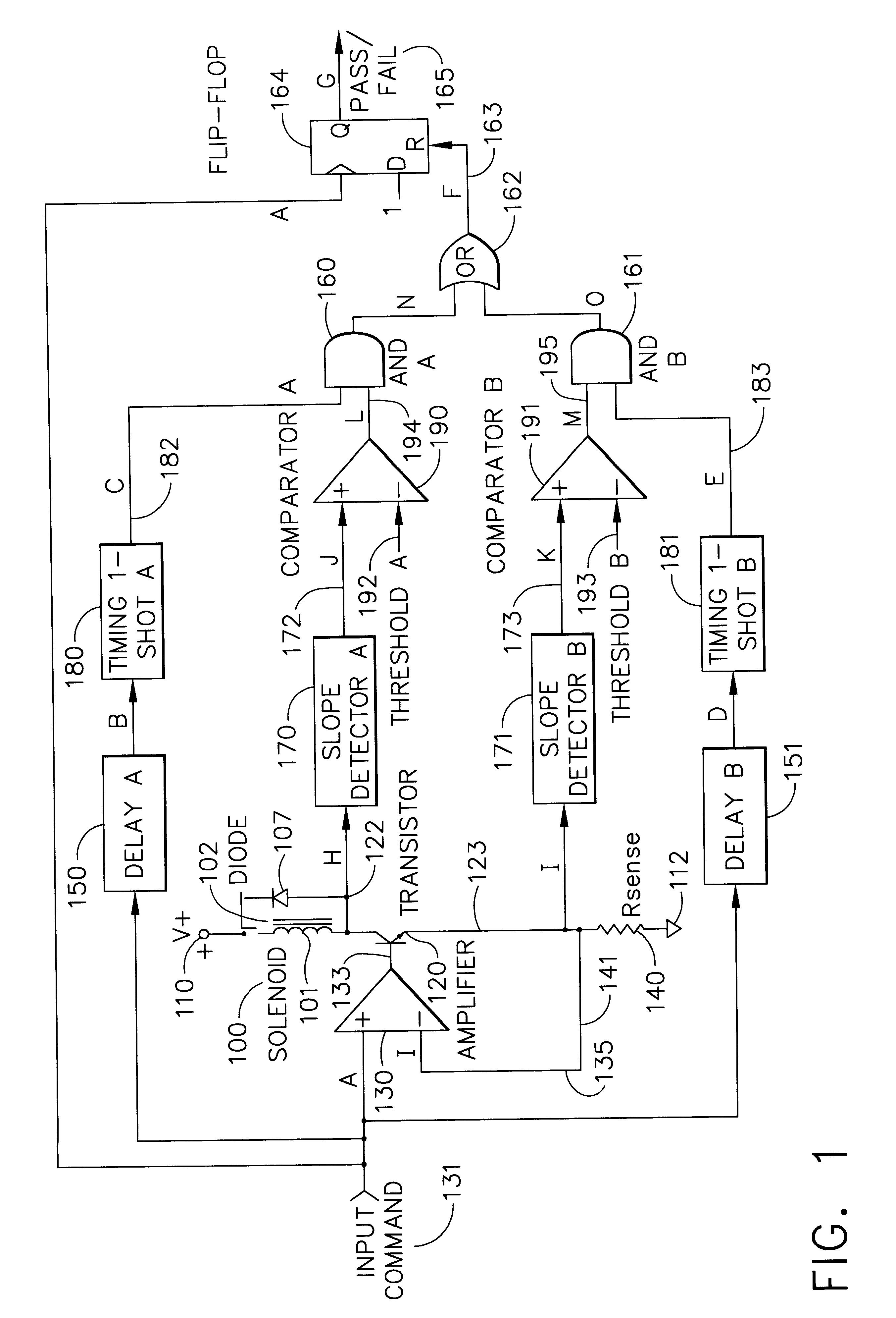 Patent US6211665 - Solenoid motion detection circuit