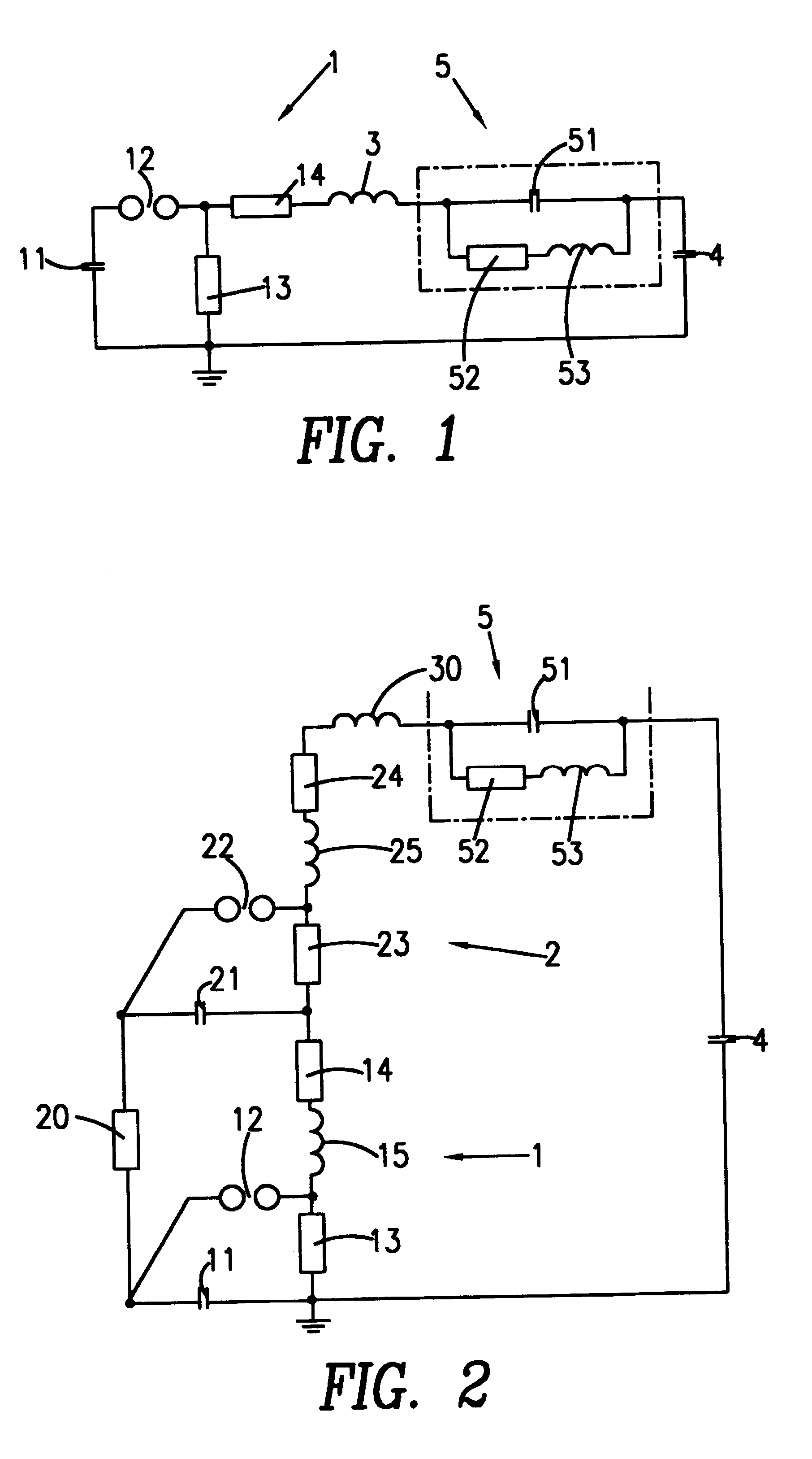 Patent Us6211683 Impulse Voltage Generator Circuit Google Patents Figure 1 This Is An Inductor Based 5 Stage Marx Drawing