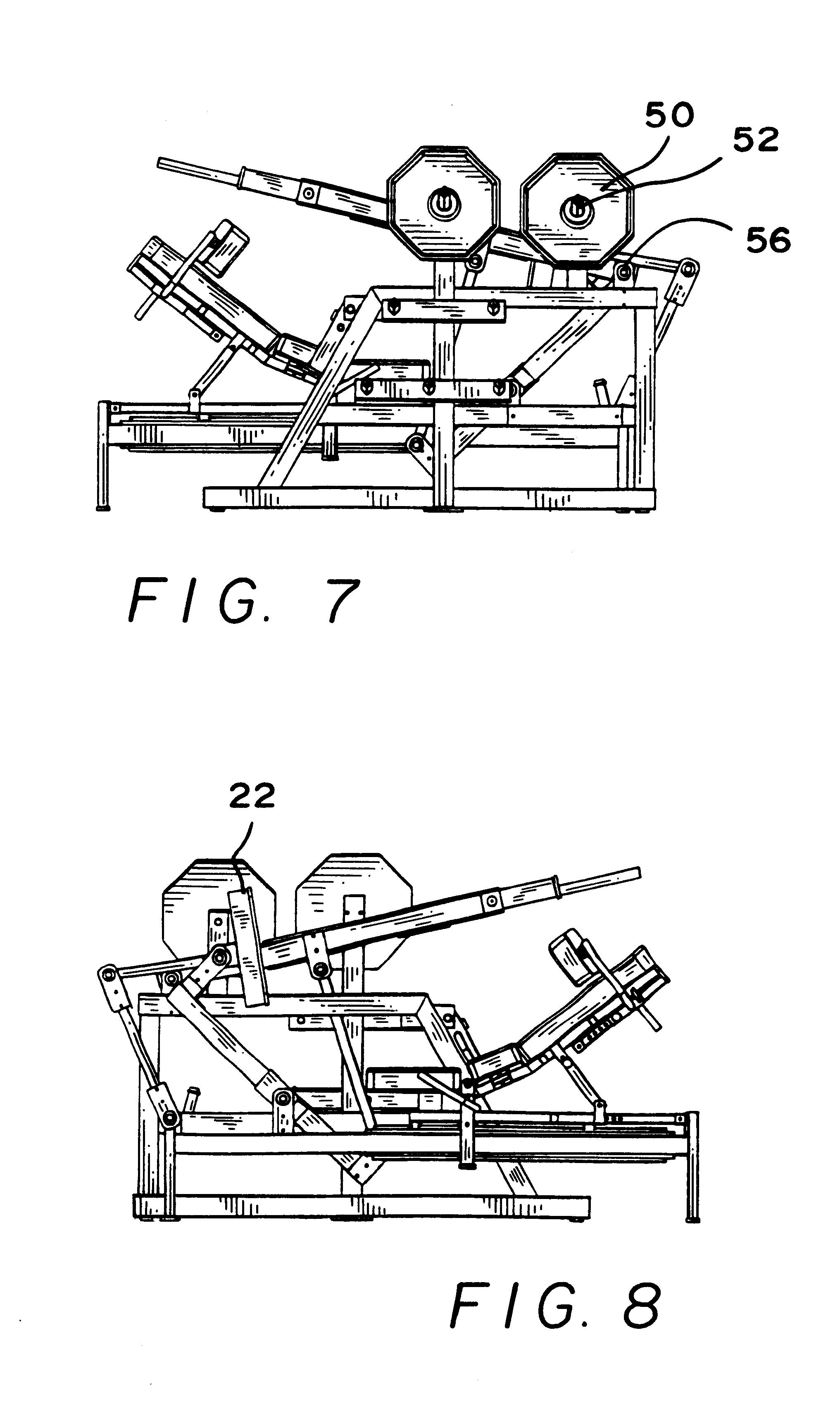 Patent US6220993 - Leg press machine - Google Patenten