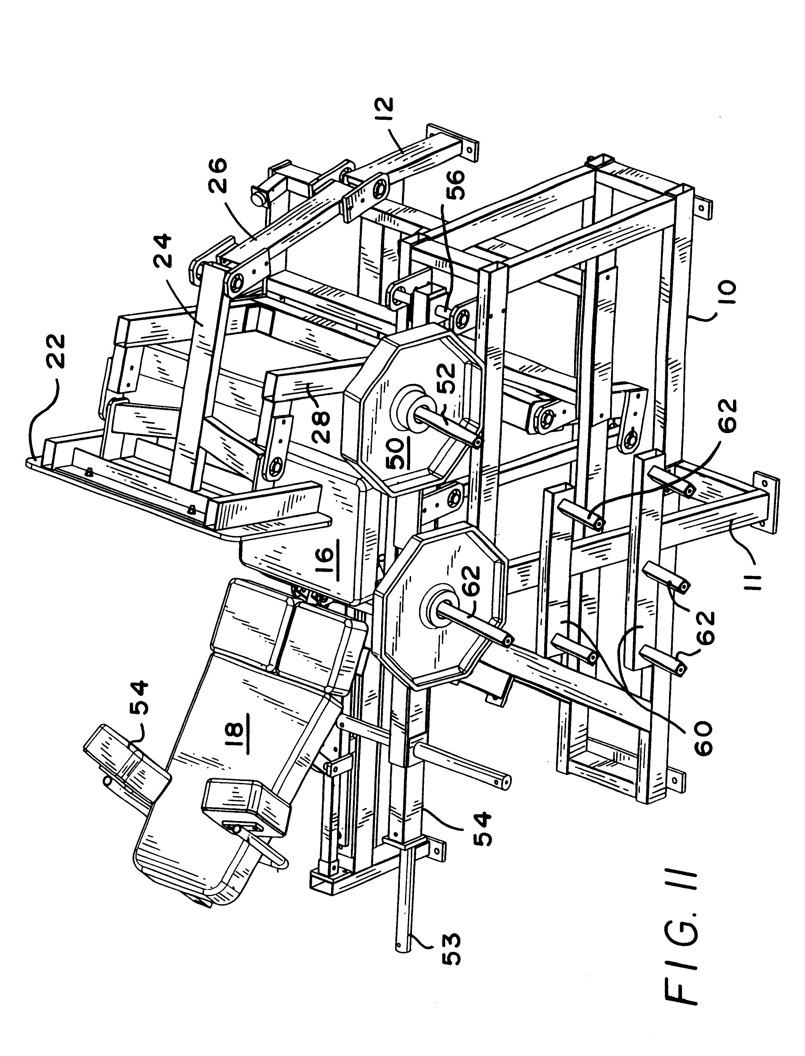 Patent US6220993 - Leg press machine - Google Patents
