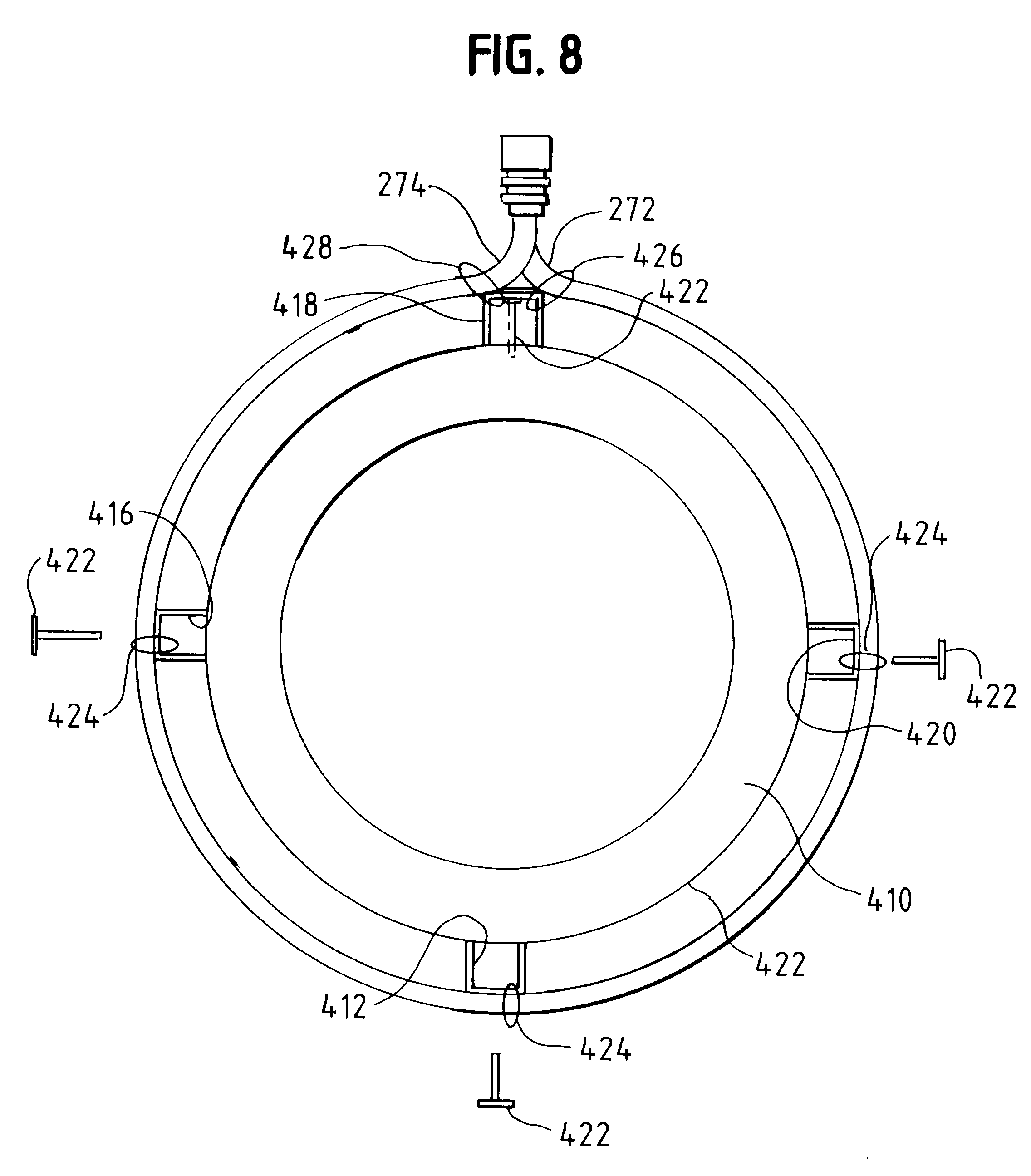 patent us6222289 electric motor housings with integrated heat  patent drawing