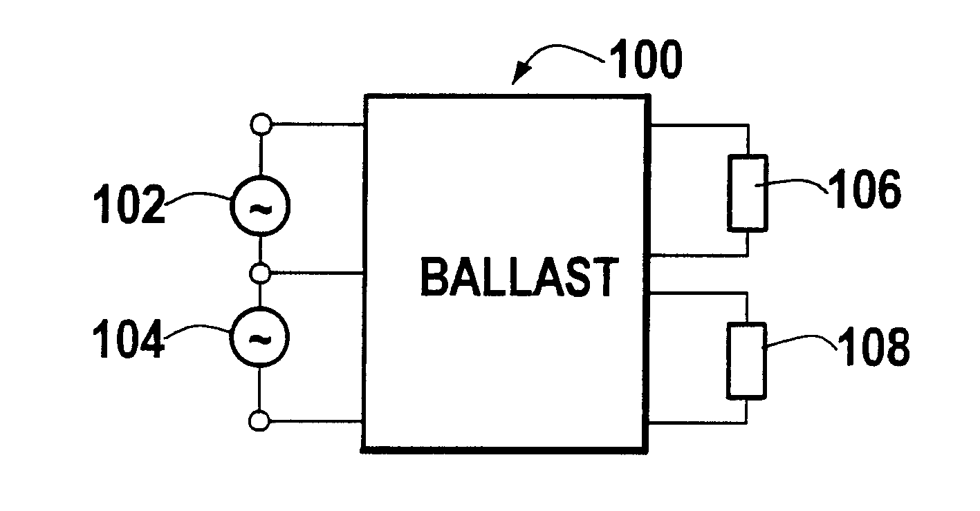 Patent Us6222326 Ballast Circuit With Independent Lamp Control Led Light Bulb Google Patente On Wire Battery Drawing