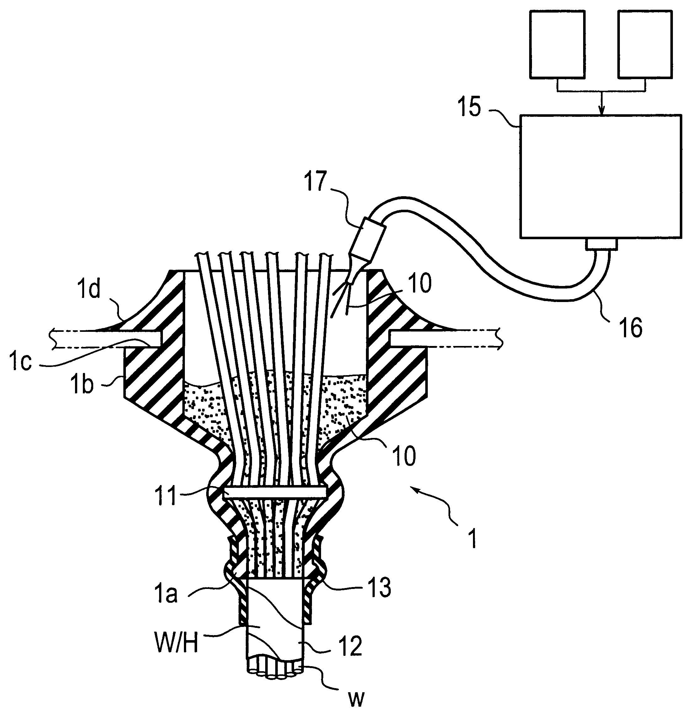 Patent Us6225562 Sealant For Filling Grommet Method Sealing A Wire Harness Drawing