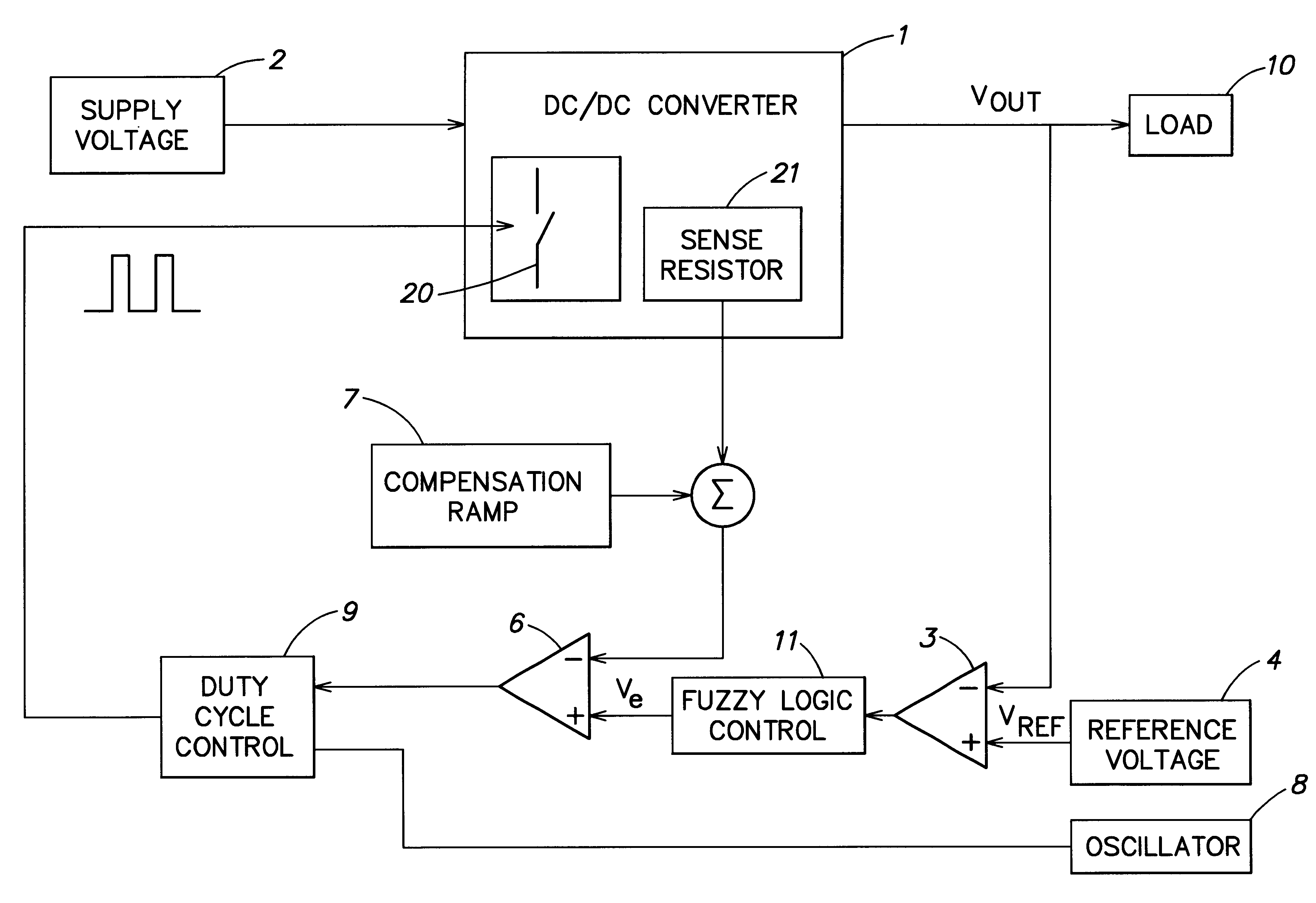 Patent Us6225794 Step Up Continuous Mode Dc To Converter With Logic Control Diagram Drawing