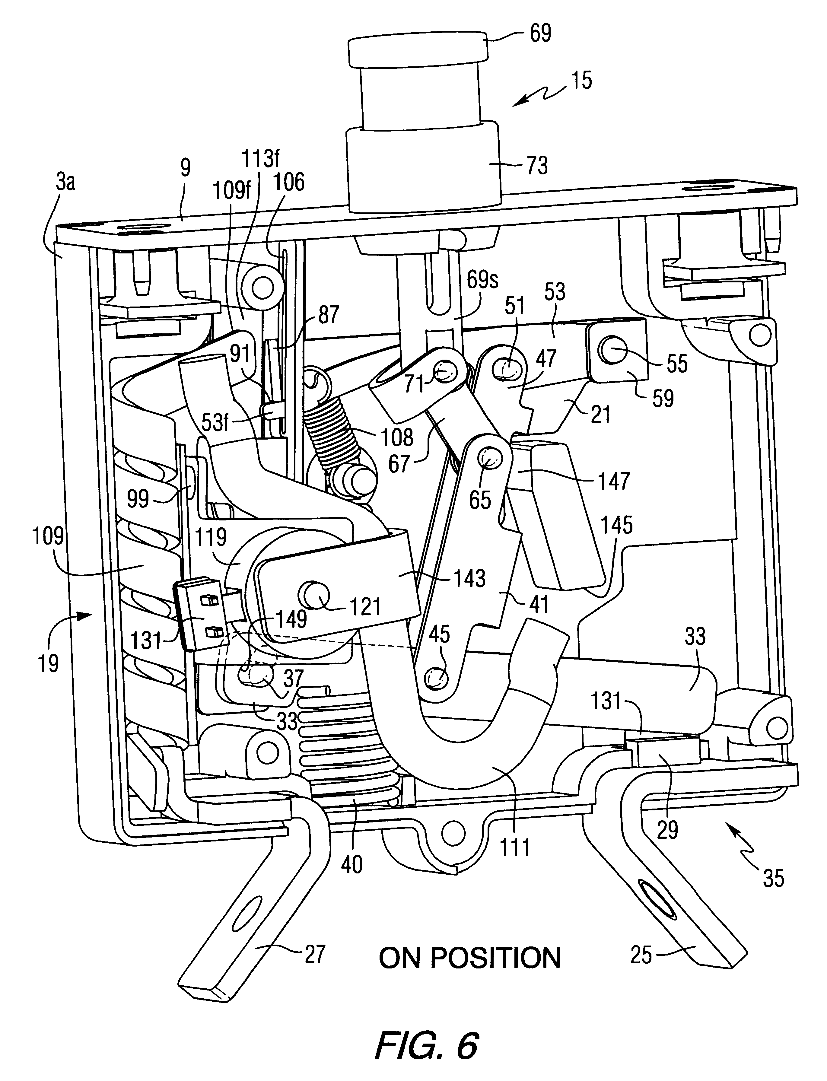 Patent Us6225883 Circuit Breaker With Latch And Toggle