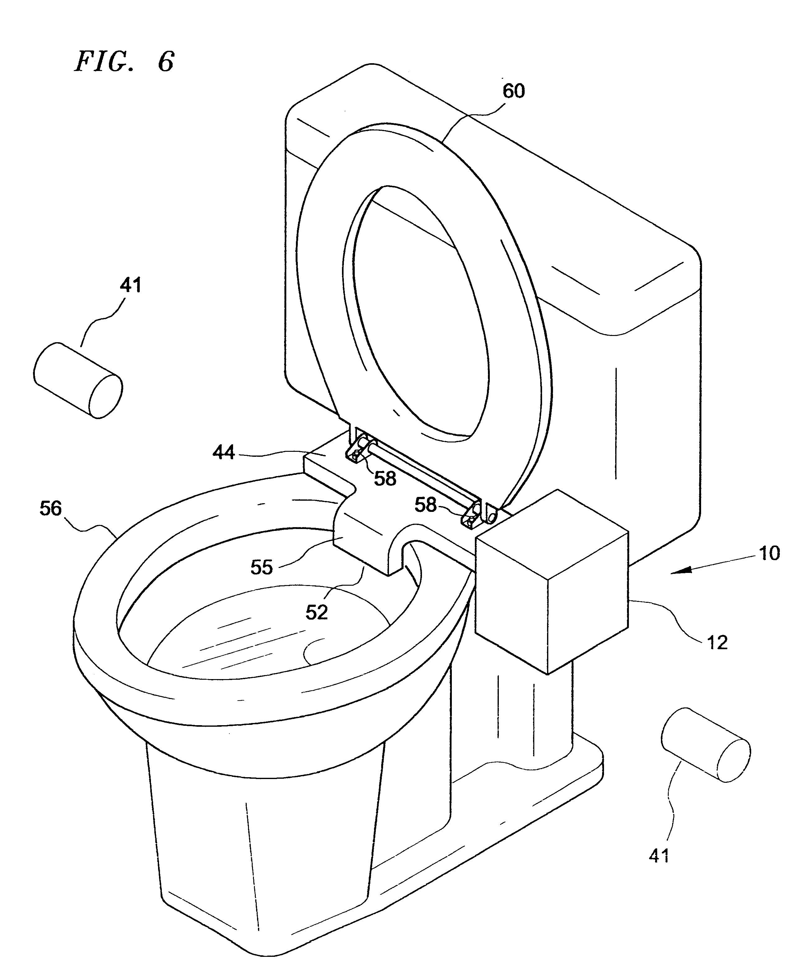 patent us6233750 toilet bowl ventilating apparatus google patents. Black Bedroom Furniture Sets. Home Design Ideas