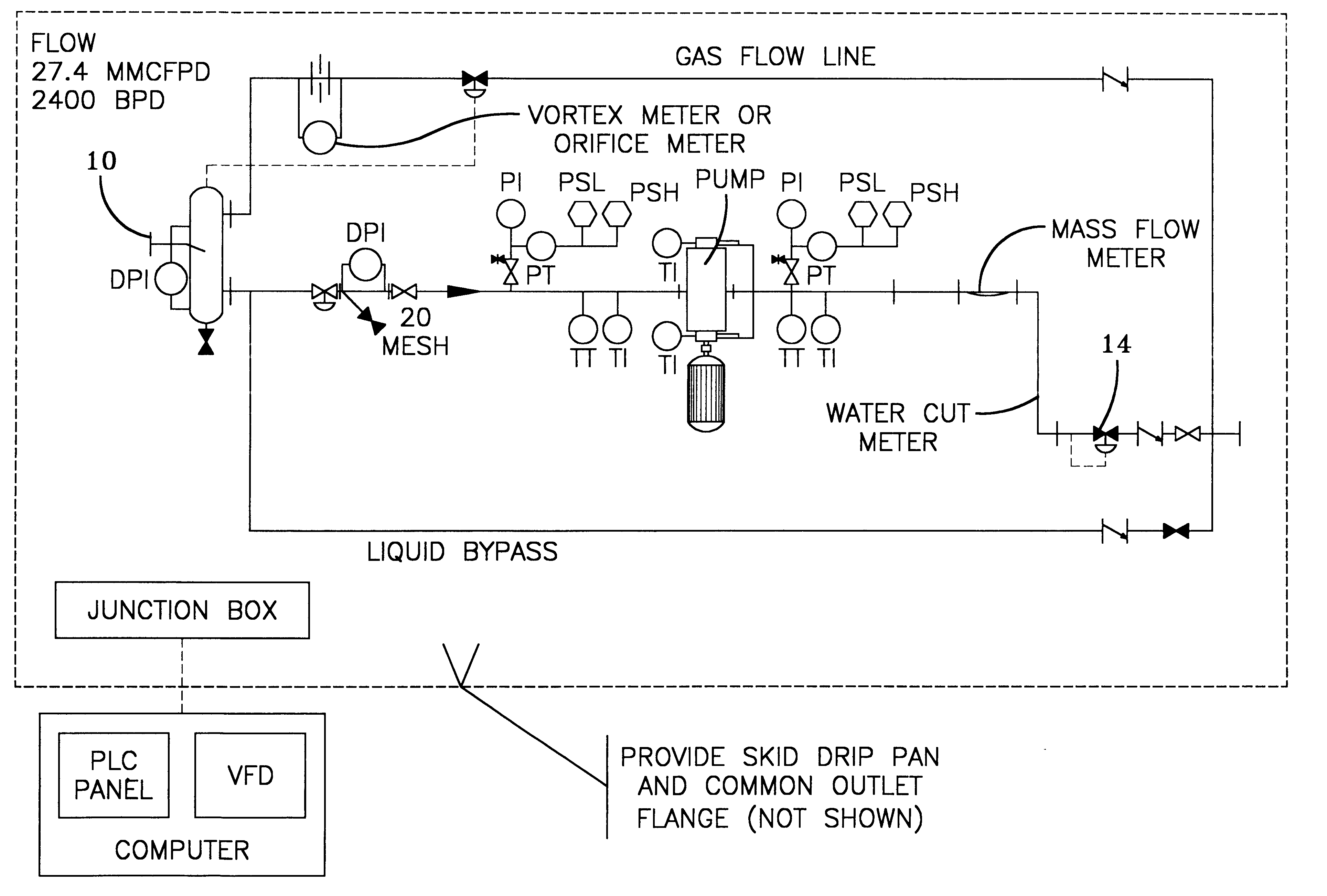 Patent Us6234030 Multiphase Metering Method For