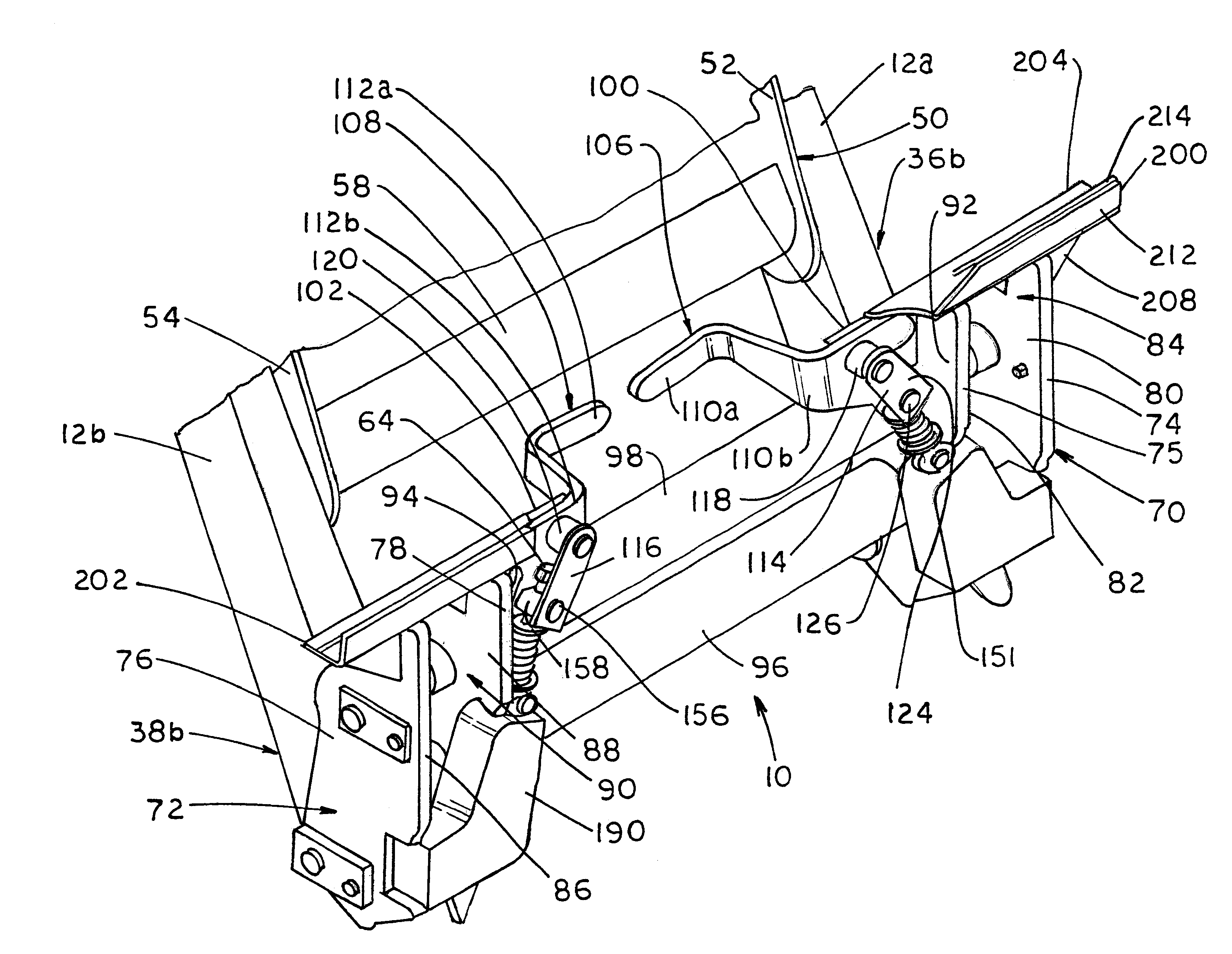 Patent US6238130 - Coupling device for a skid steer - Google