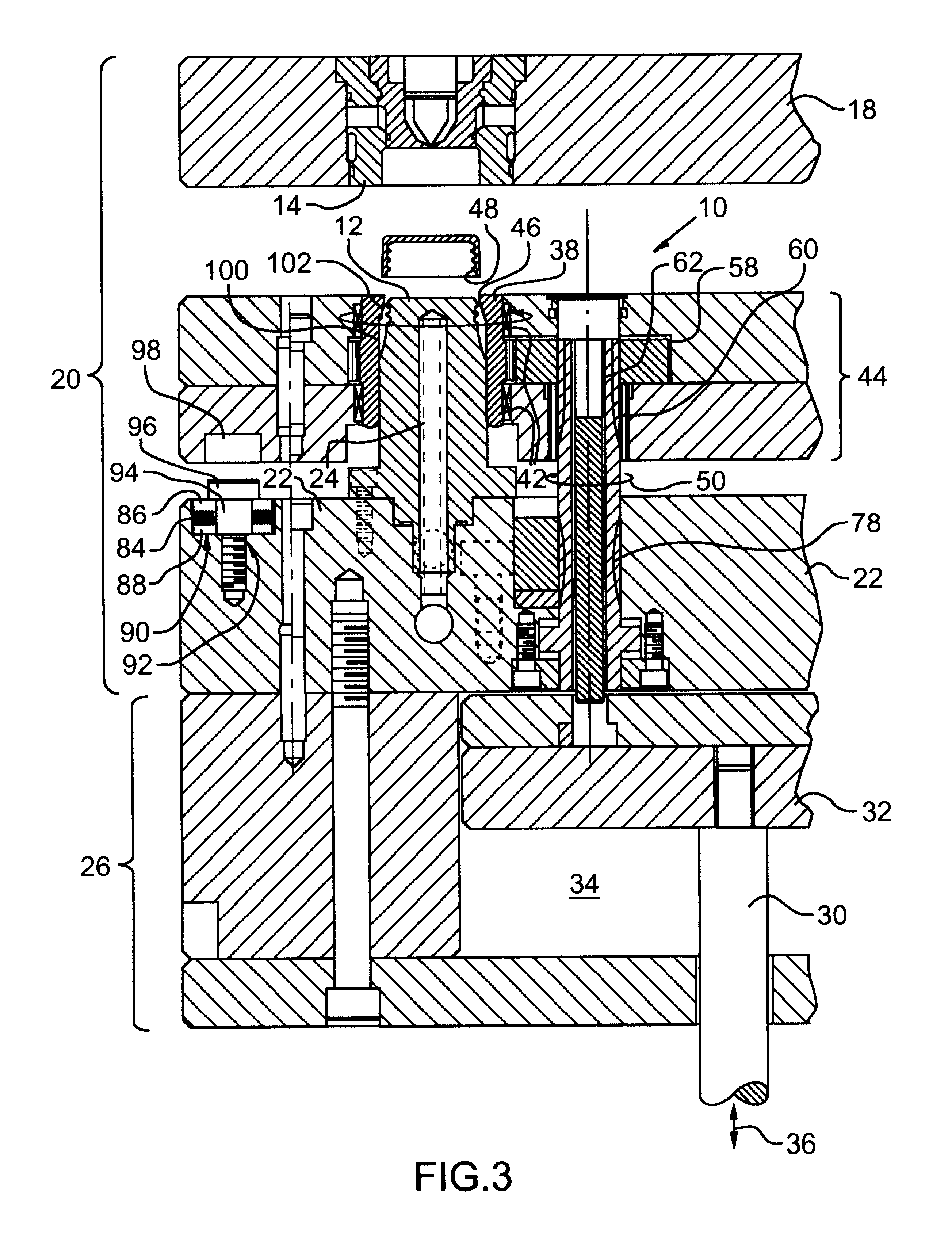 Patent US6238202 - Apparatus for ejecting threaded injection