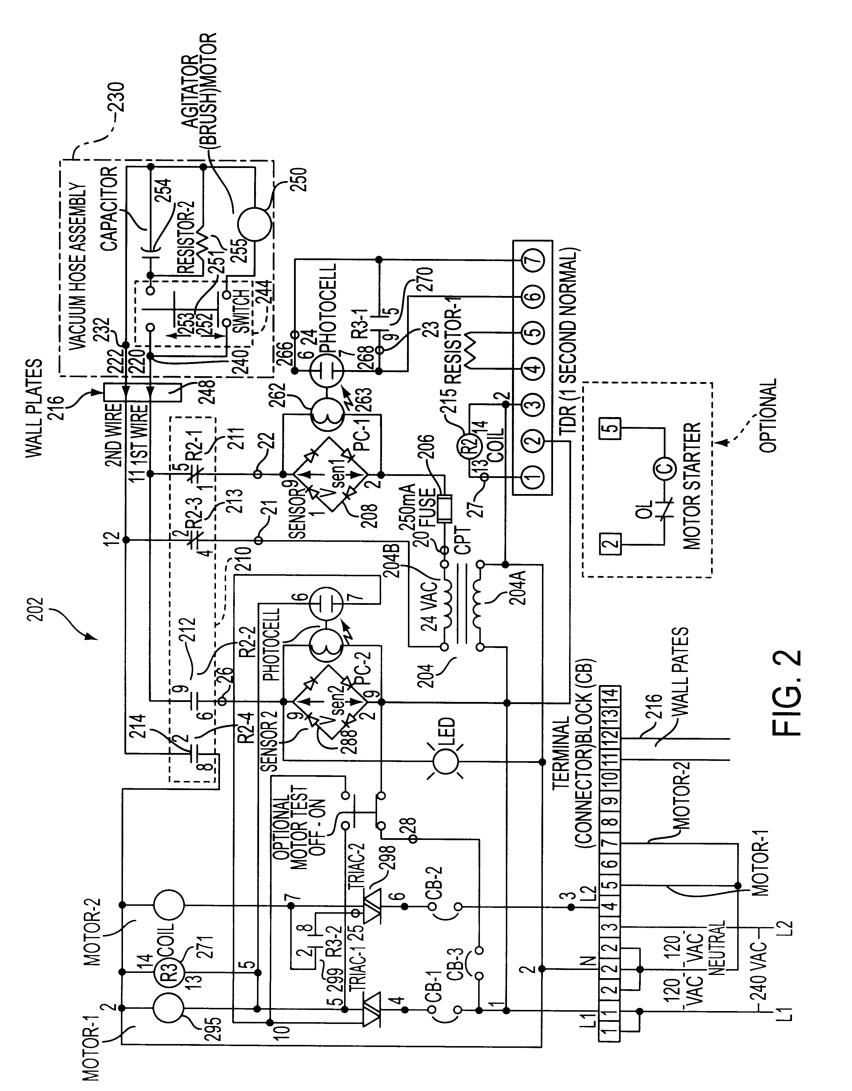 patent us6239576 safe class 2 motor control circuit and method 208 VAC Single Phase Wiring Diagram patent drawing