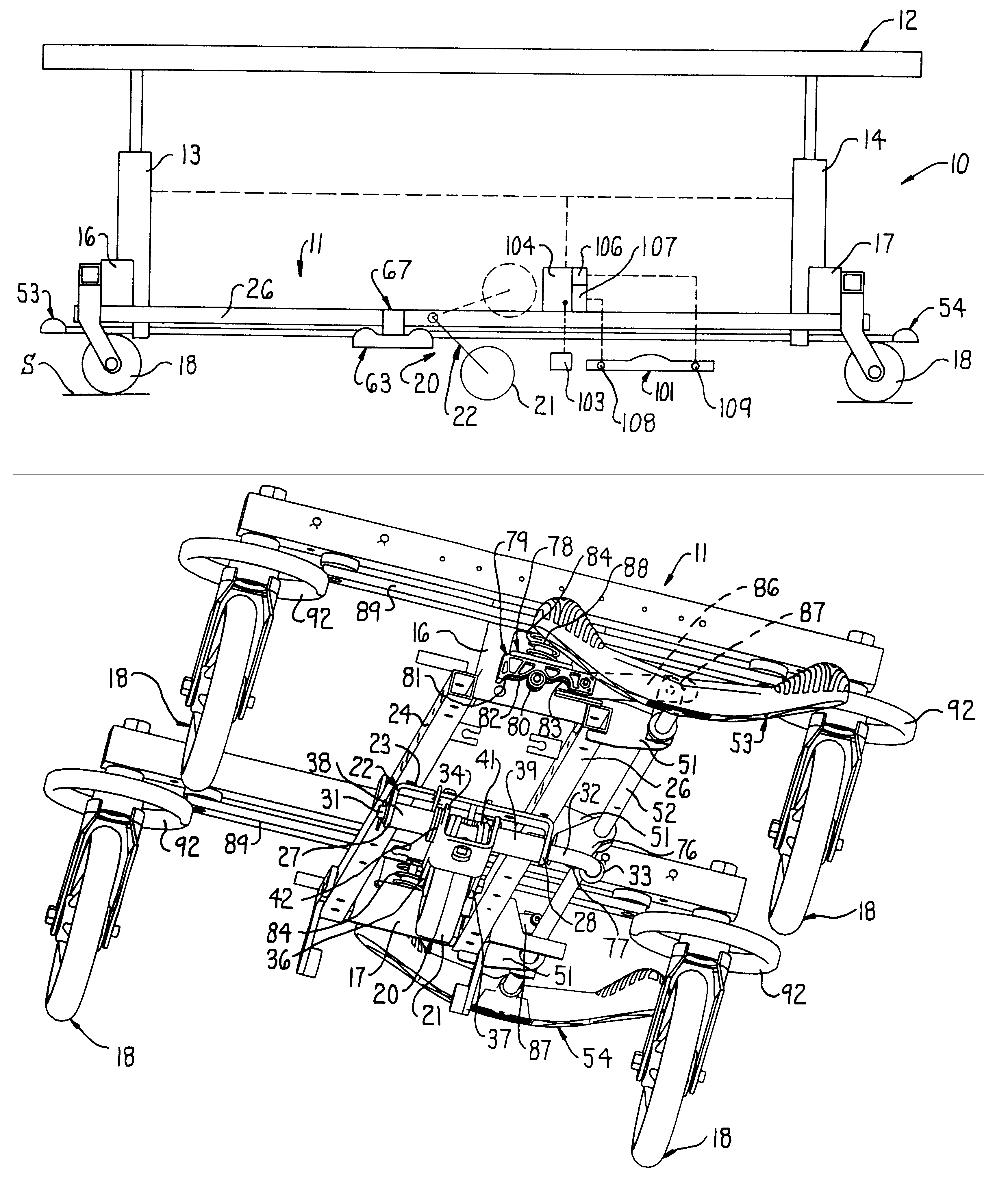 Stryker Stretcher Schematics Schematic Diagrams Evo Quibo 300 Wiring Diagram Patent Us6240579 Unitary Pedal Control Of Brake And Fifth Wheel