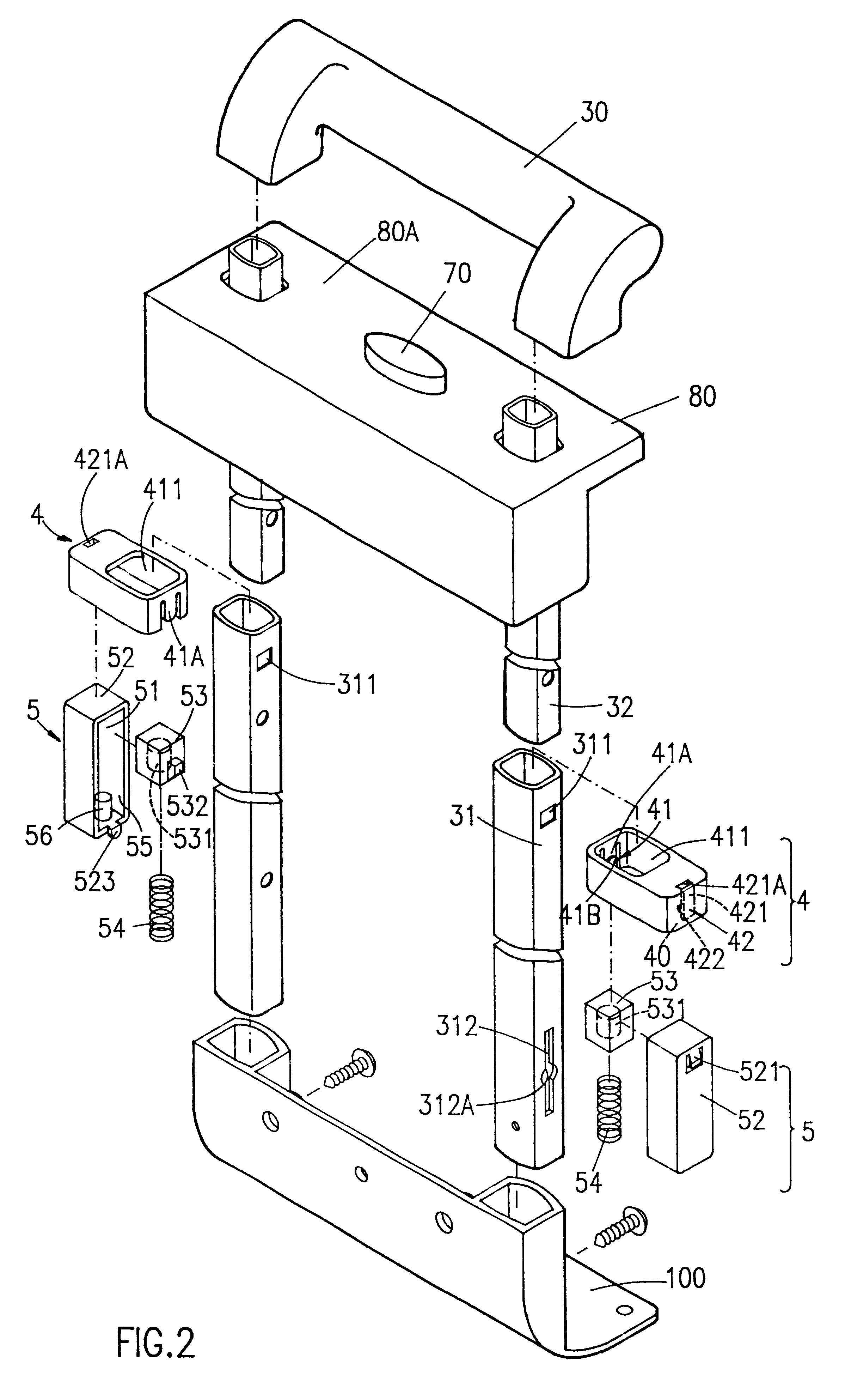 Patent Us6247203 Pop Up Mechanism For An Extendable