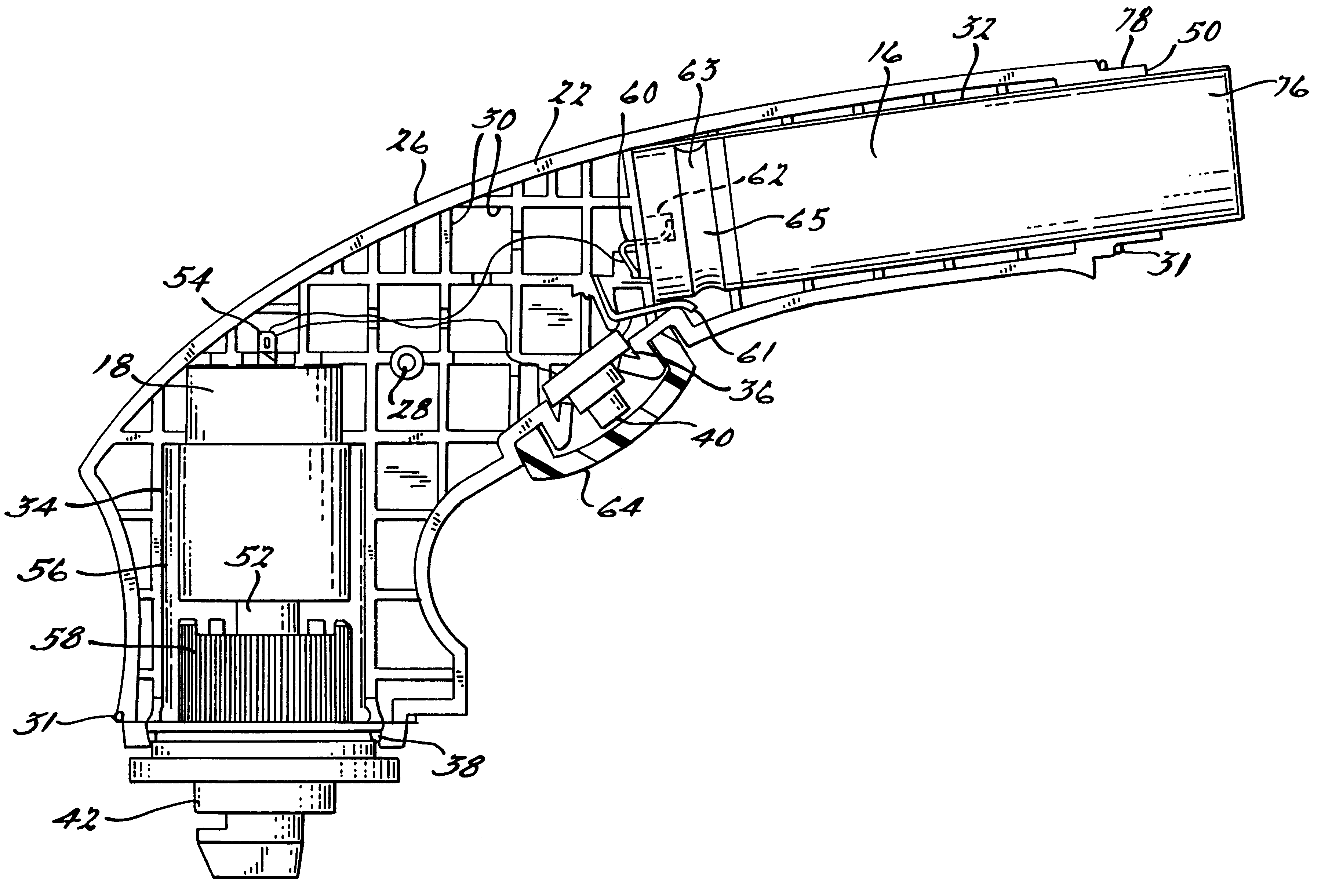 bffce55a2c4 Patent US6248007 - Hand held motorized tool with over-molded cover - Google  Patents