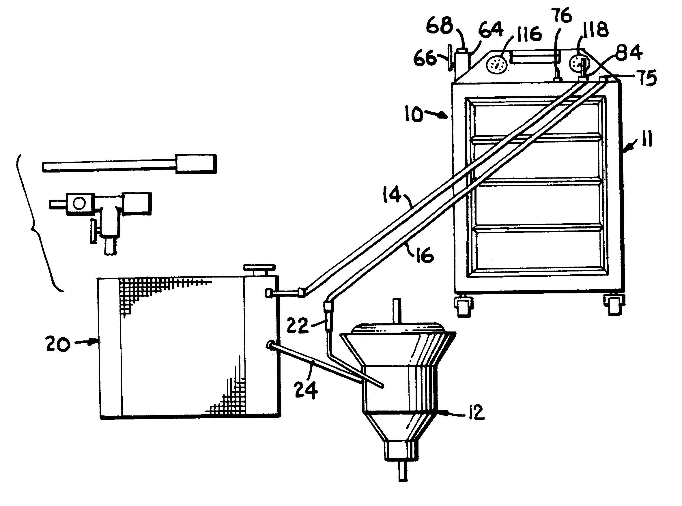 patent us6253805 apparatus and improved method for changing Transmission Cooler for Street Rods patent drawing