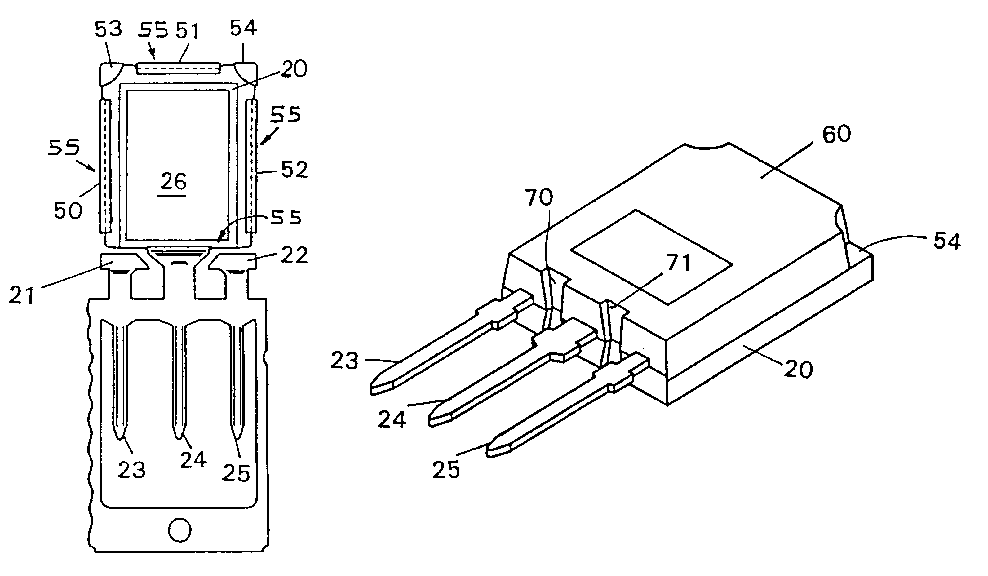Patent Us6255722 High Current Capacity Semiconductor Device 1070 Case Wiring Diagram Drawing
