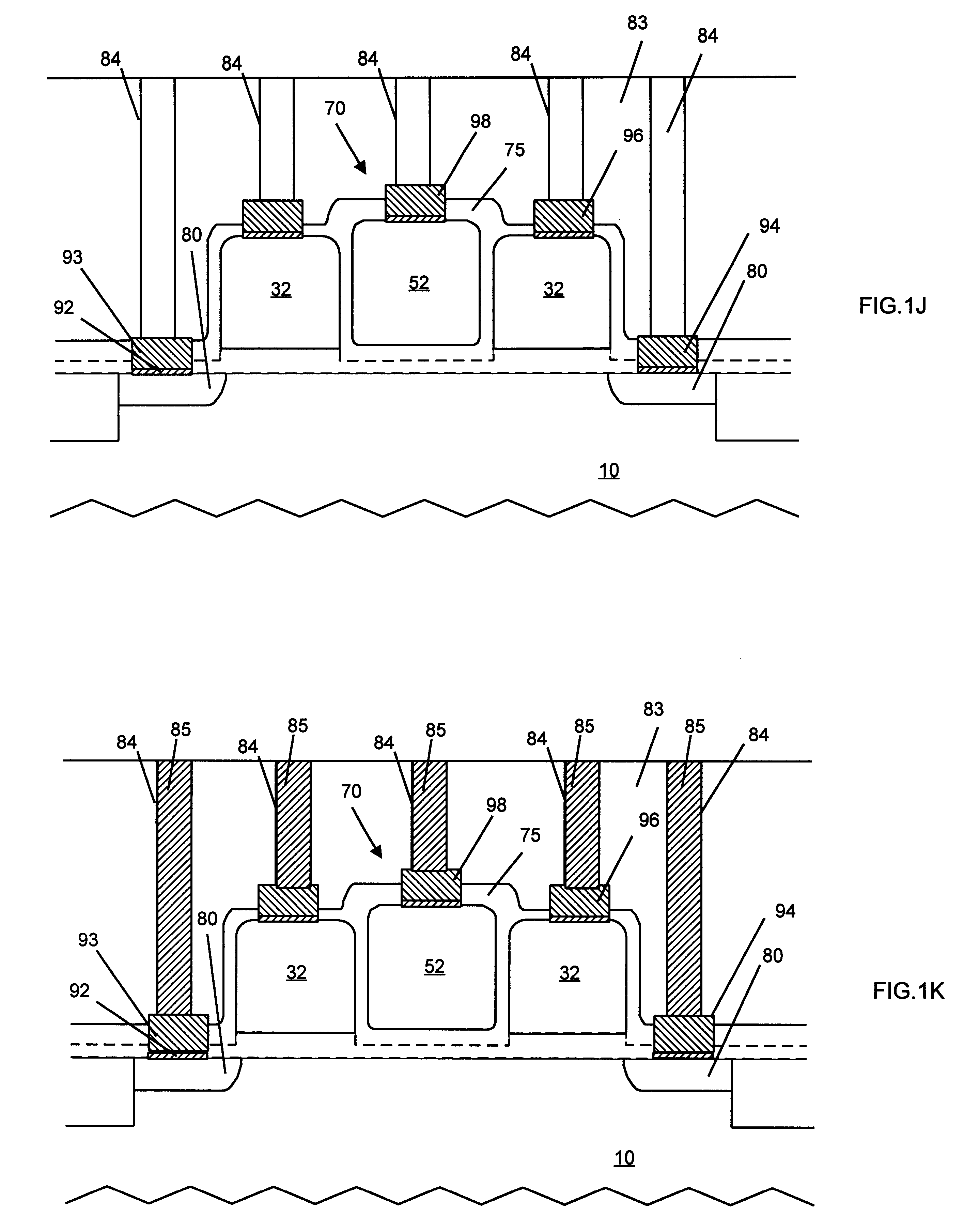 patente us6259142 - multiple split gate semiconductor device and fabrication method