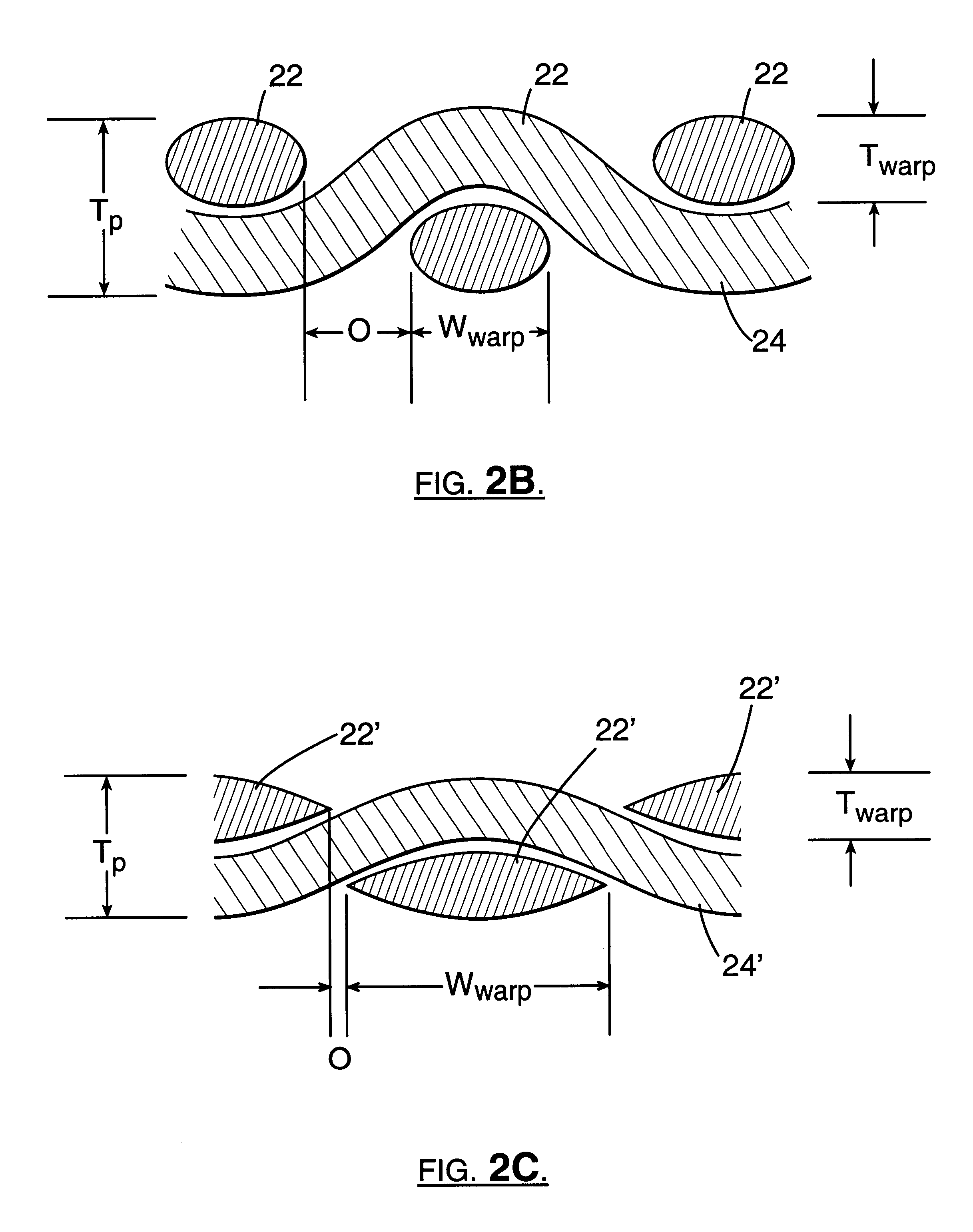 Patent Us6261675 Core Crush Resistant Fabric And Prepreg