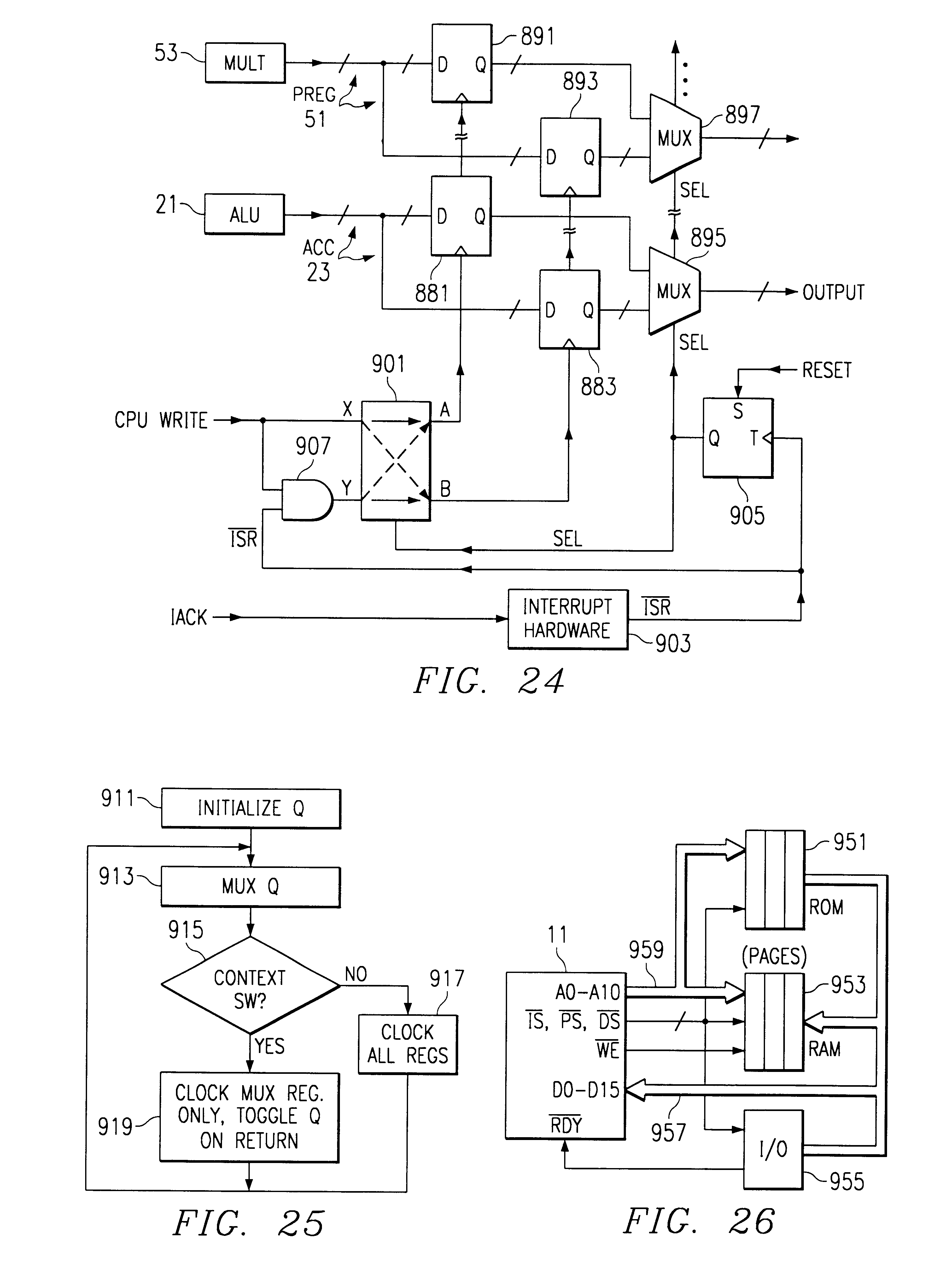 patent us6263418 process of operating a microprocessor to use wait GFI Diagram patent drawing