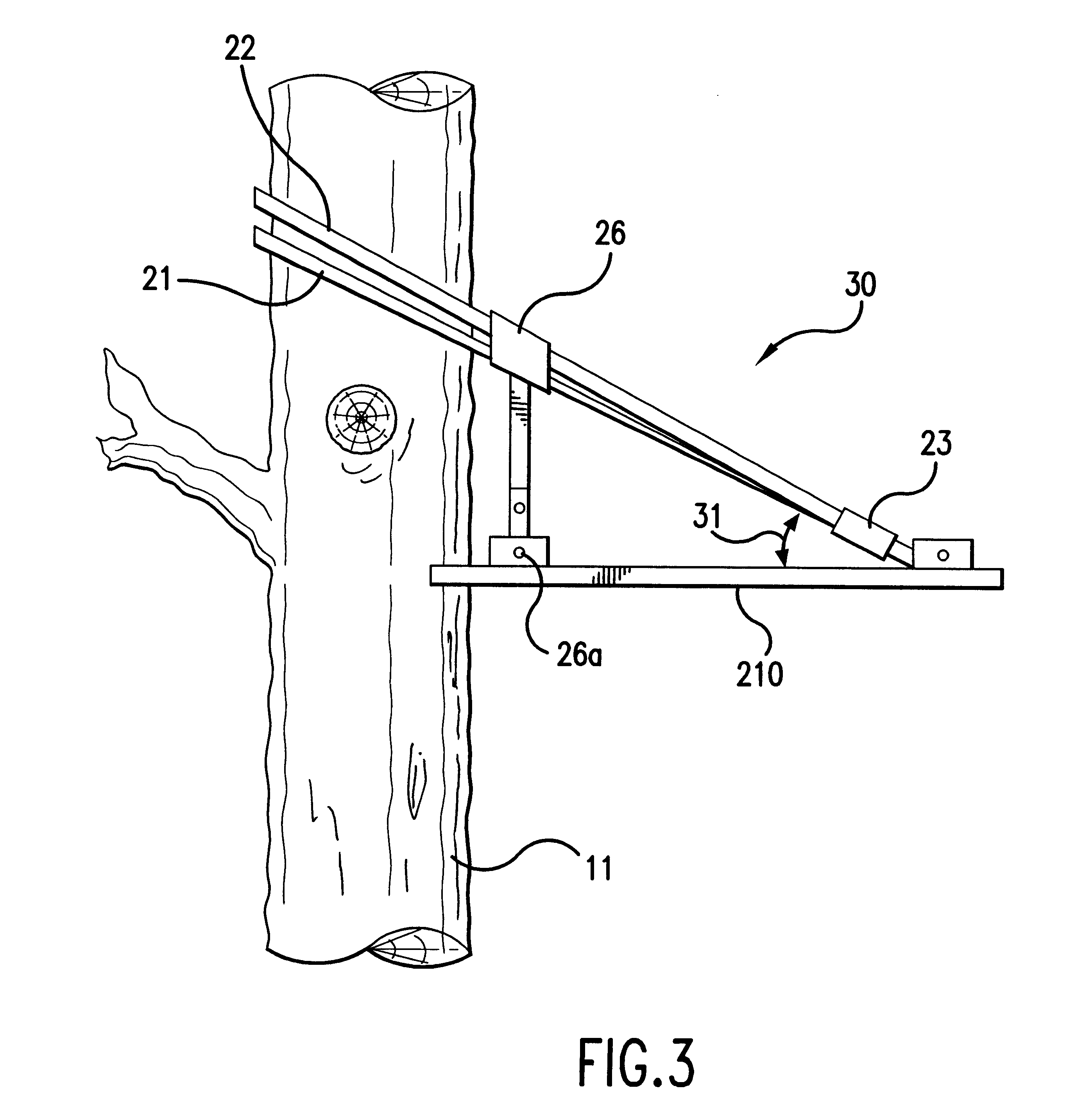 Patent us6264000 tree stand and climbing devices for Climbing tree stand plans