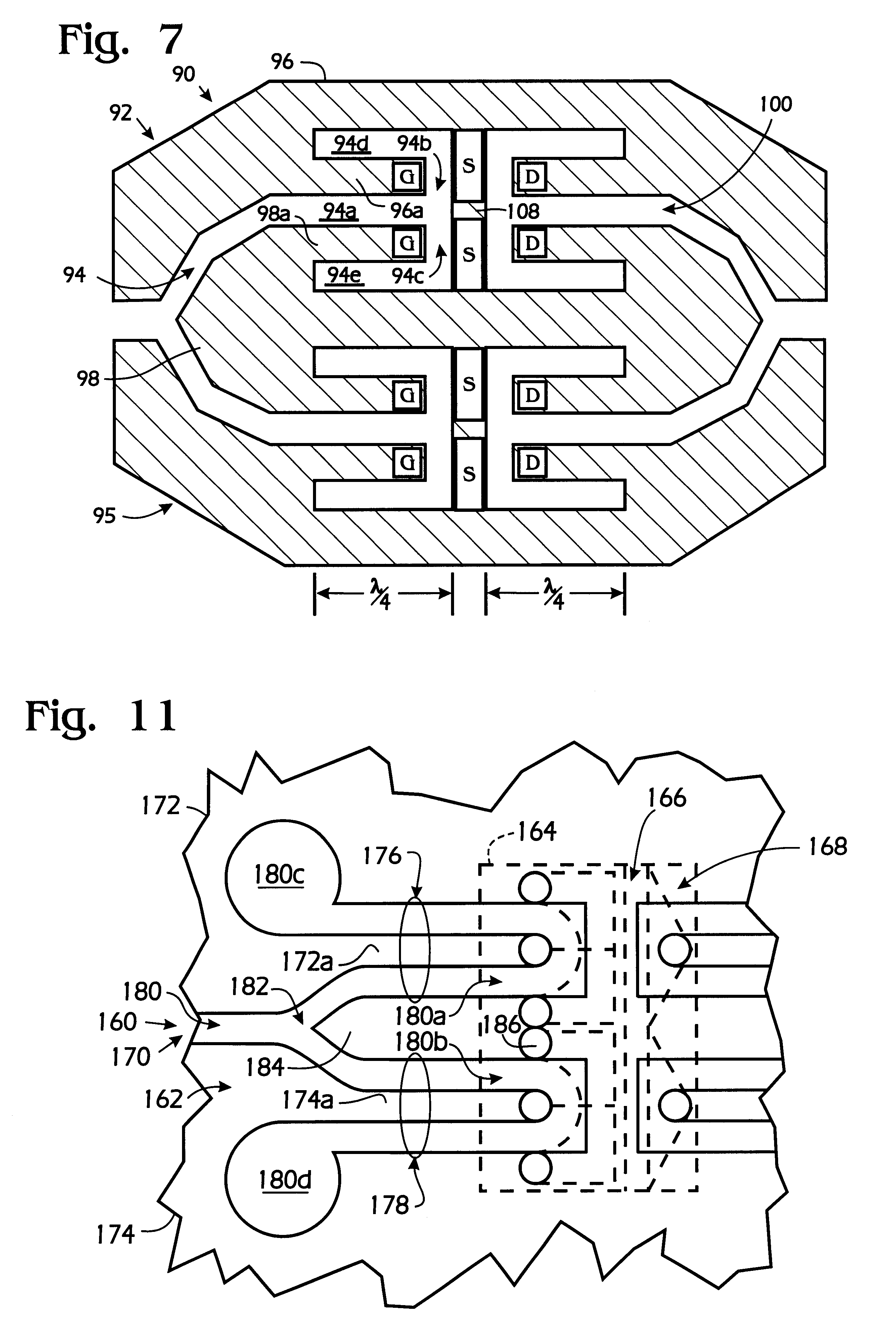patent us6265937 - push-pull amplifier with dual coplanar transmission line