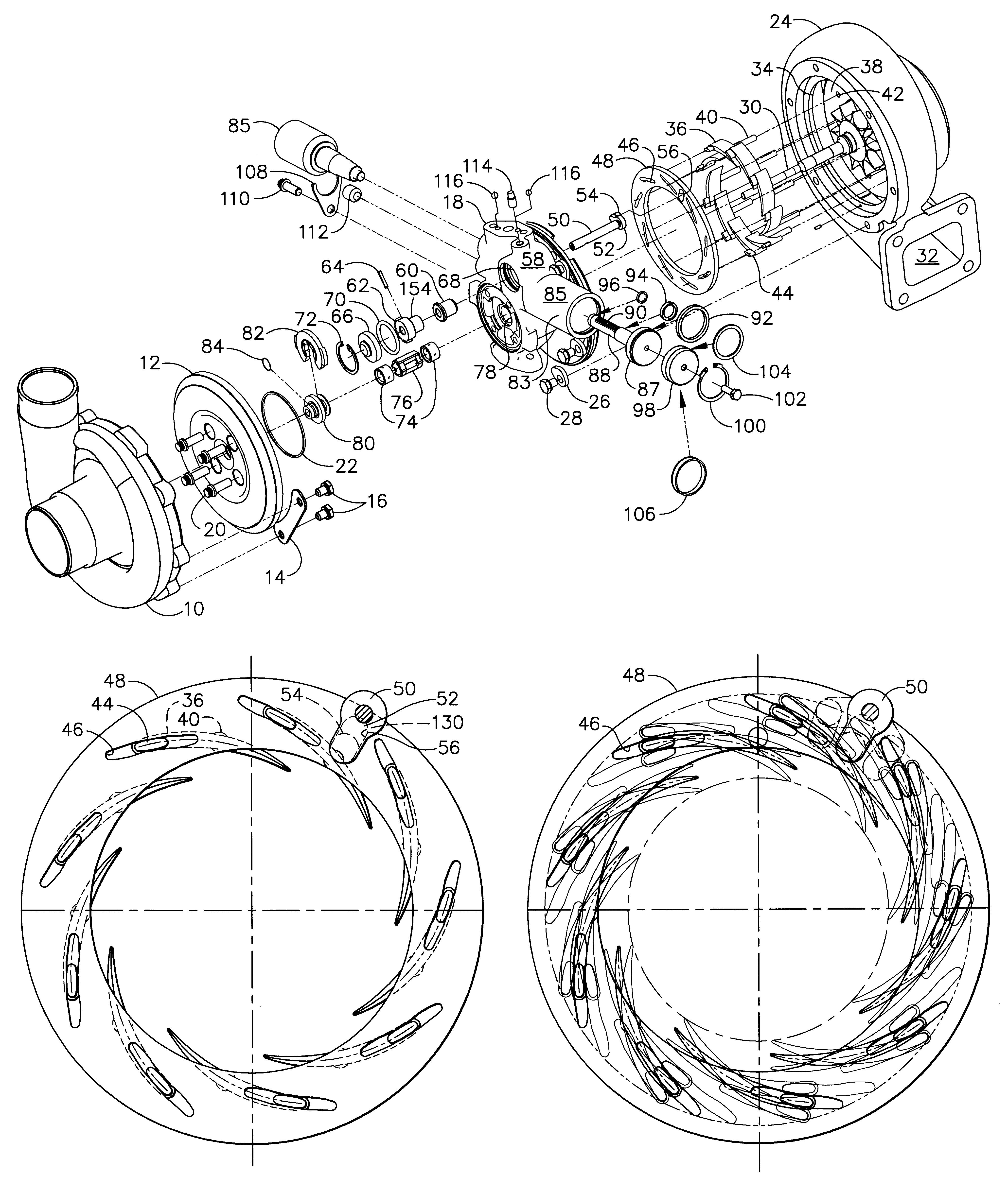 Patent Us6269642 Variable Geometry Turbocharger Google