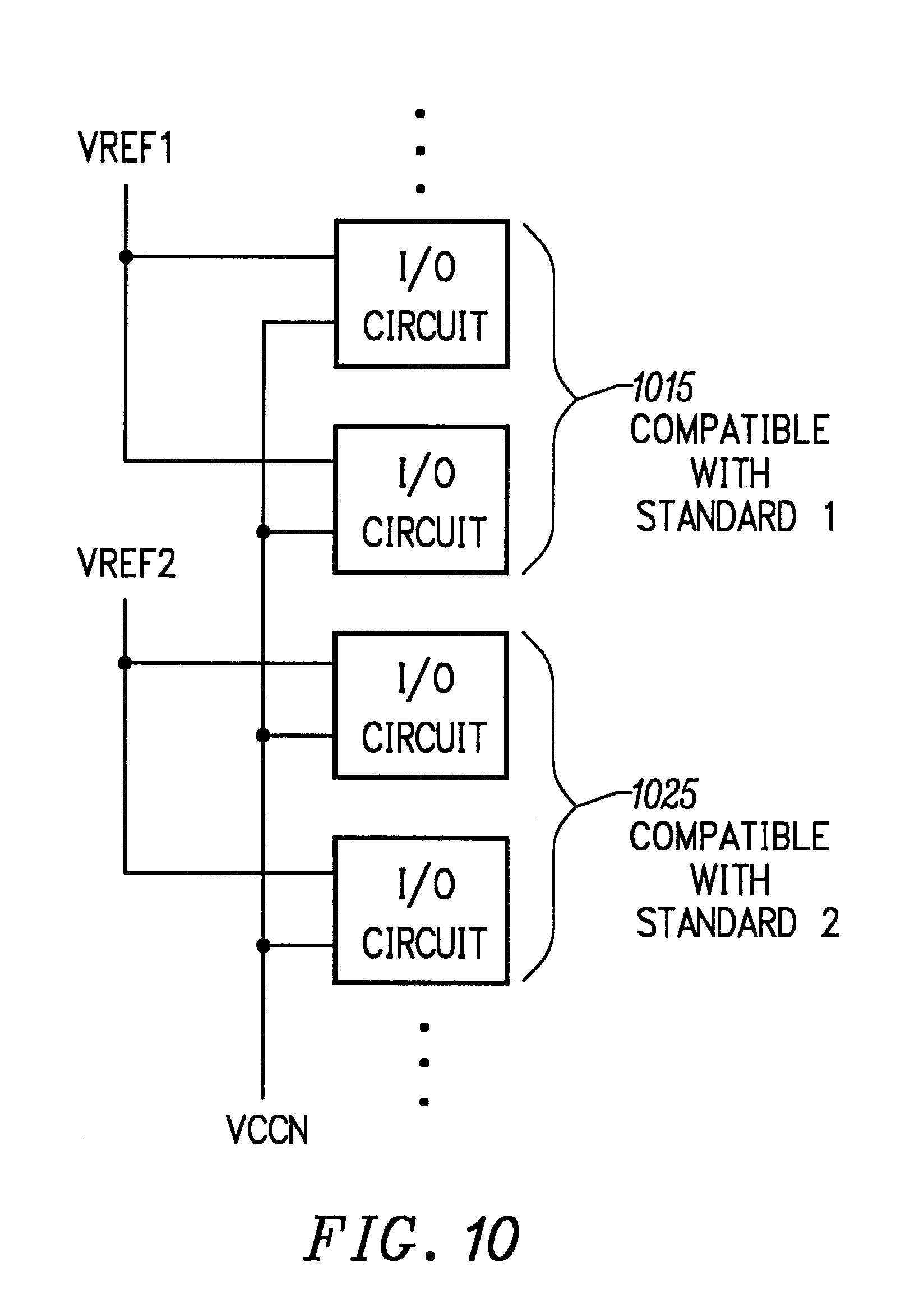 patent us6271679  o cell configuration for multiple i  o