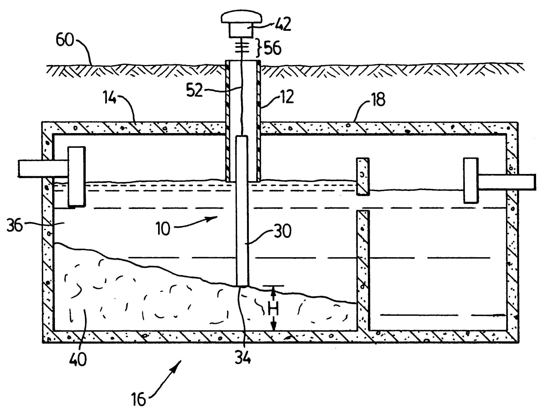 Patent Us6274033 Septic Tank Sludge Gauge Google Patents