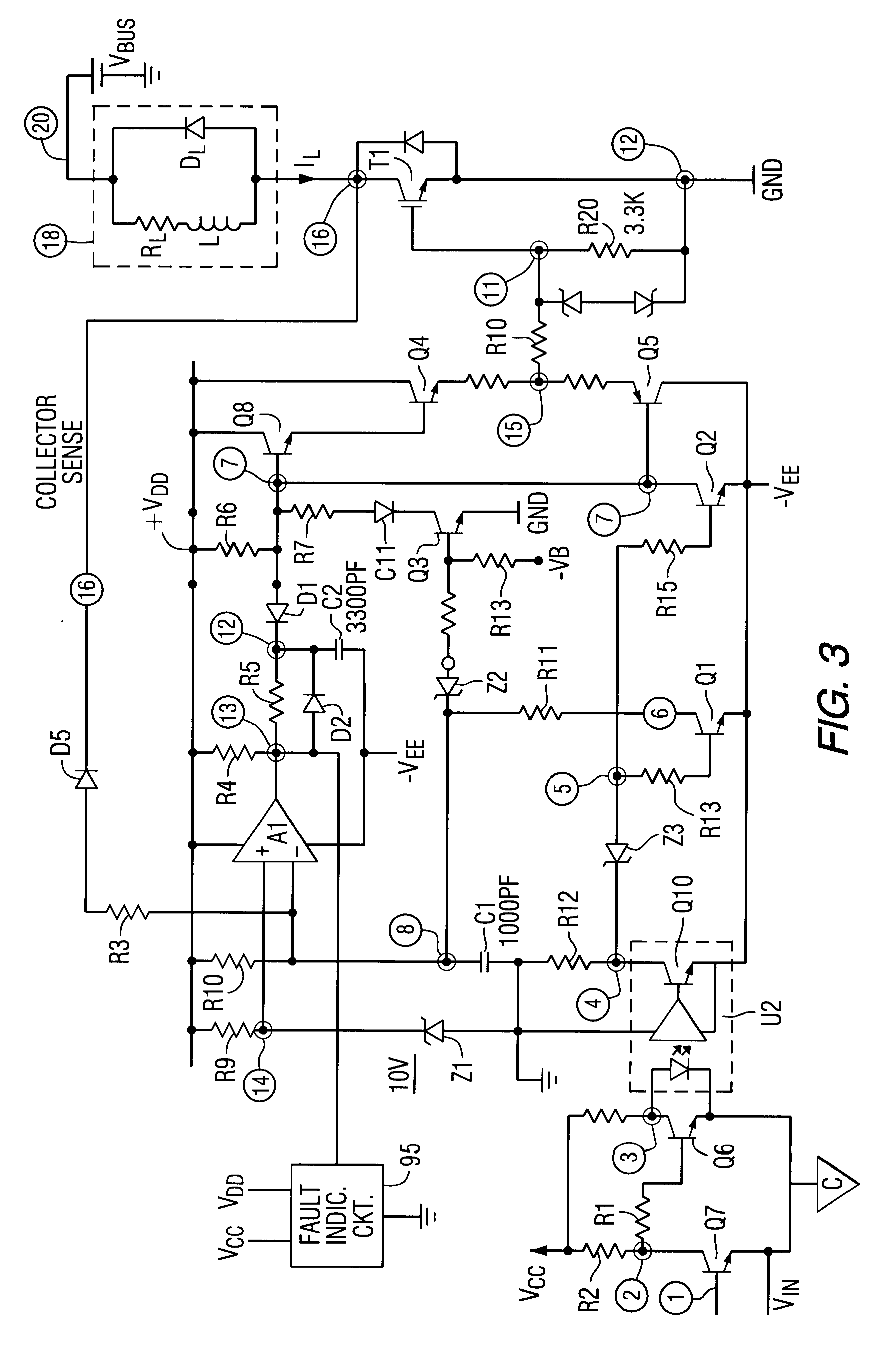 Patent US6275093 - IGBT gate drive circuit with short