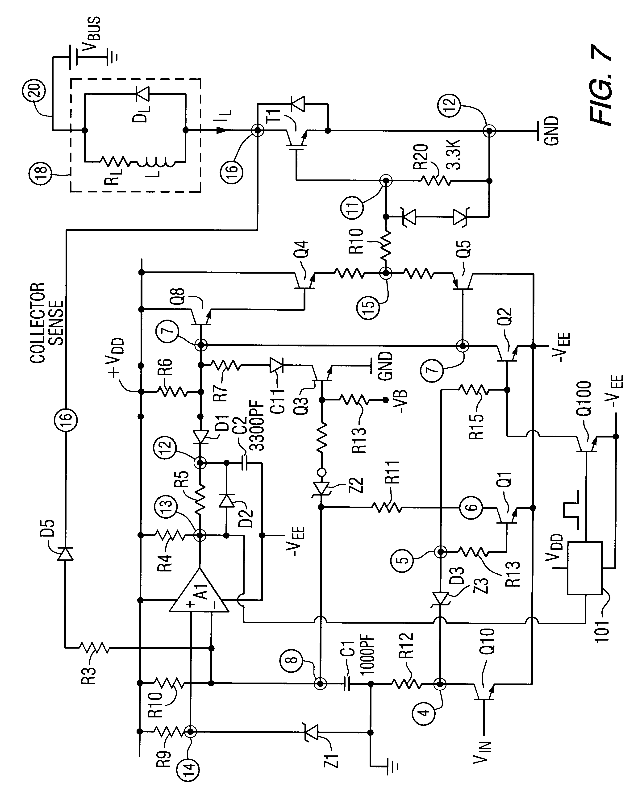 patent us6275093 - igbt gate drive circuit with short circuit protection