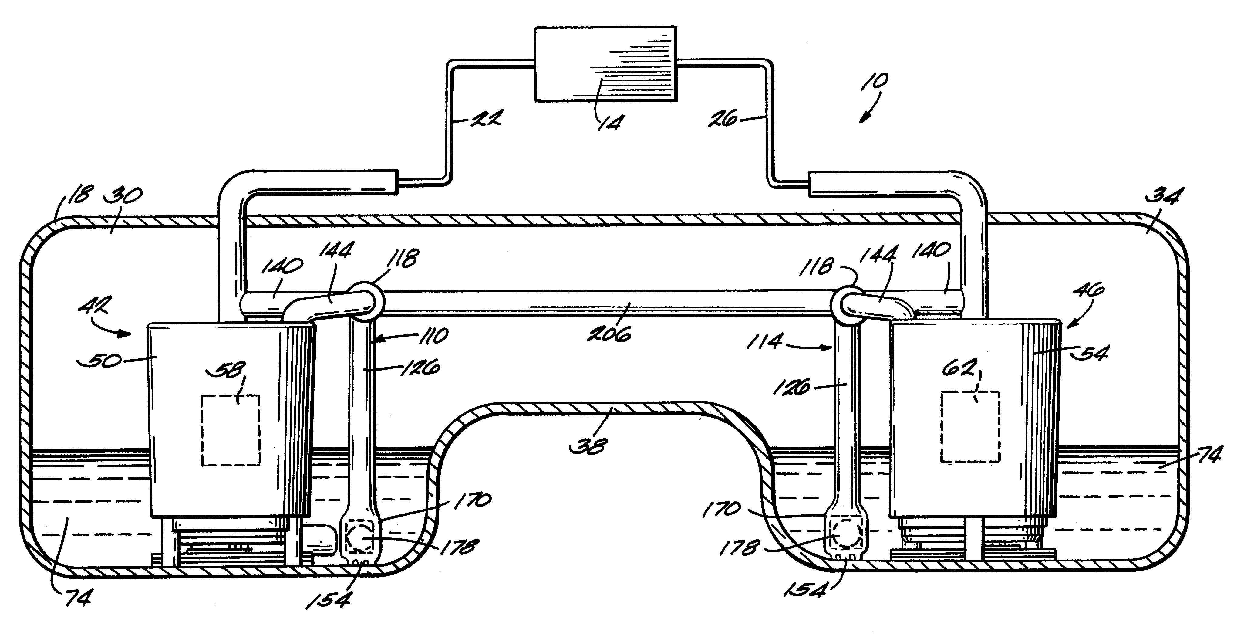 Patent Us6283142 Dual Fuel Delivery Module System For