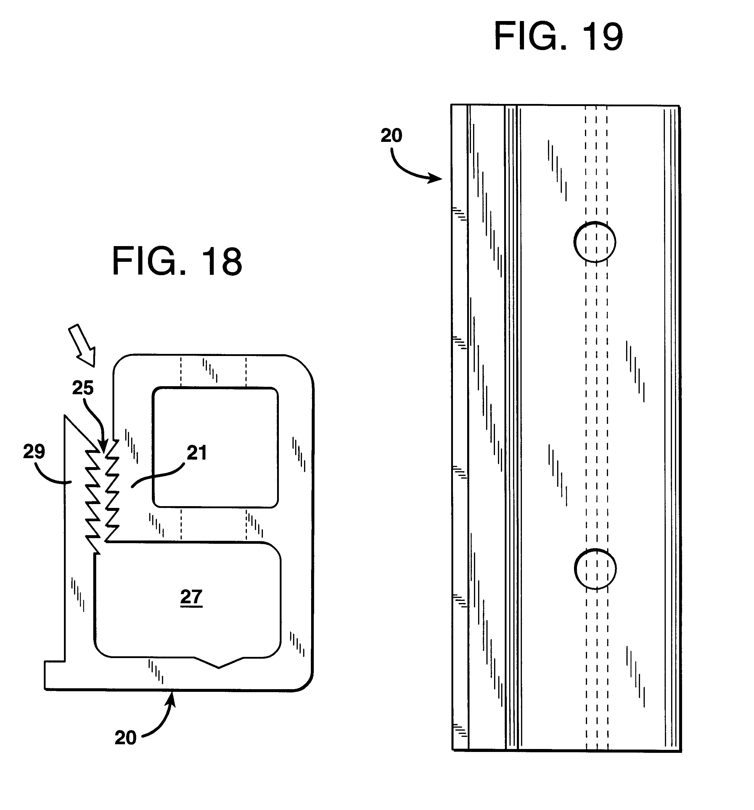 Patent Us6283247 Fabric Retainer For Acoustic Structure And Methods Of Installation Google