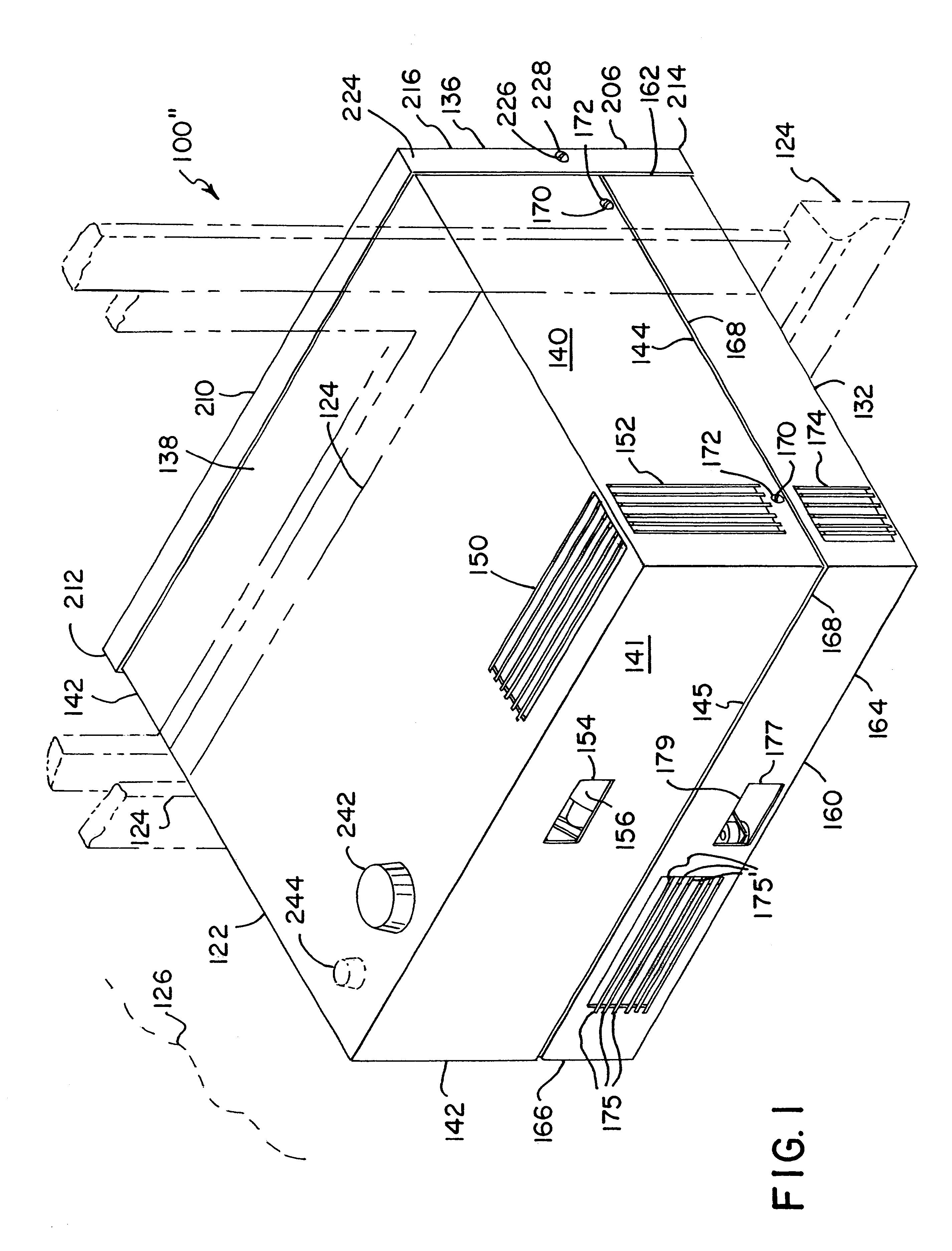 patent us6289974 integrated heat recovery ventilator hepa filter Pleated Air Filters for House patent drawing